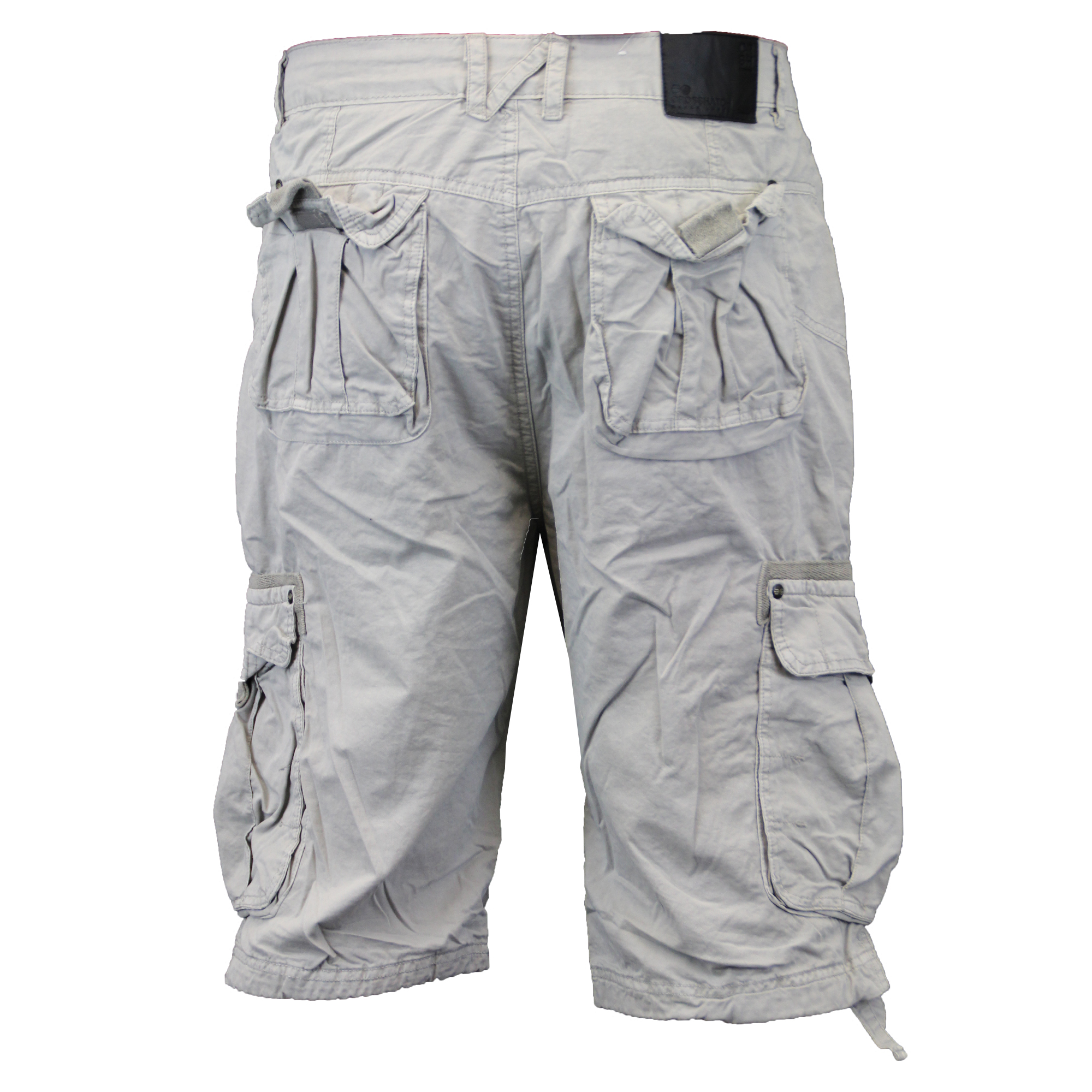 f7d308aced4 Mens Combat Cargo Shorts Crosshatch Knee Length Cotton Casual ...
