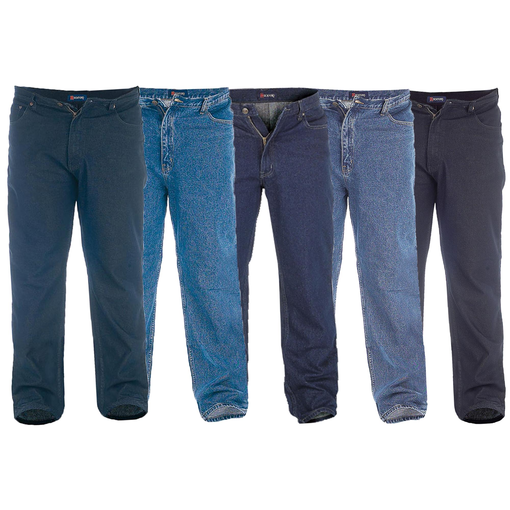 Rockford Jeans Mens Big /& Tall Denim Jeans Straight Fit Big Kingsize RJ510 60