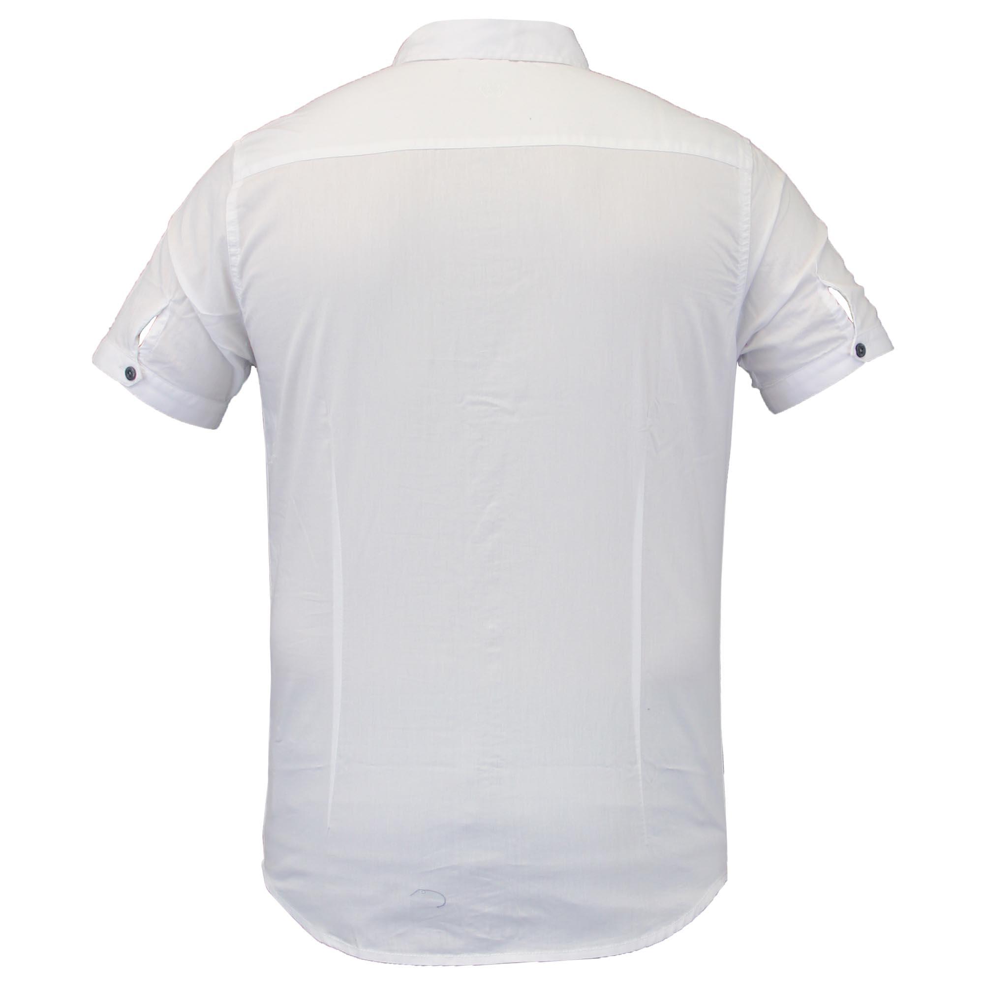 Camisas-de-vestir-para-hombre-de-alma-valiente-Smith-amp-Jones-Manga-Corta-Larga-De-Algodon-Con miniatura 15