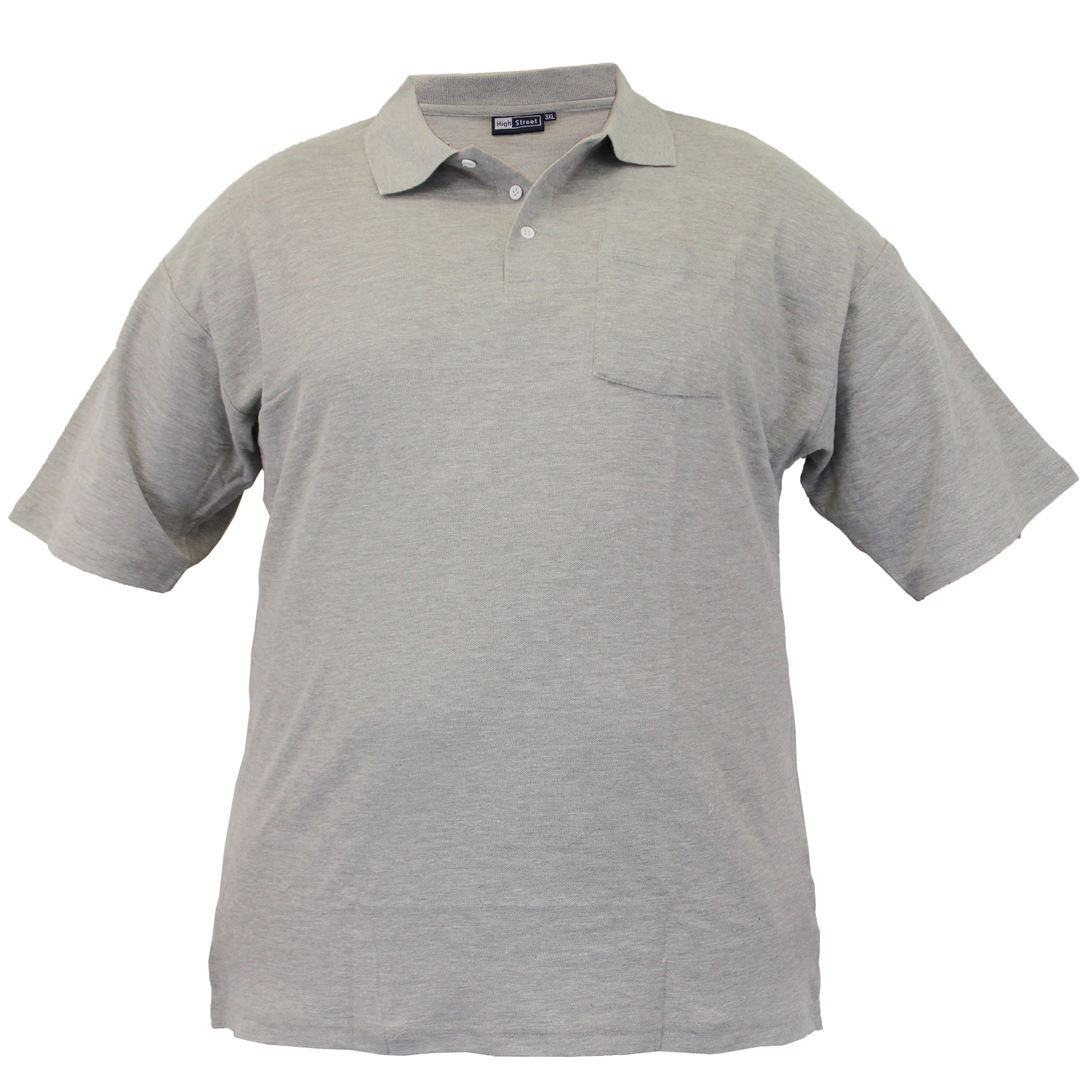 Mens Short Sleeved Pique Polo Shirts Big King Size Ebay