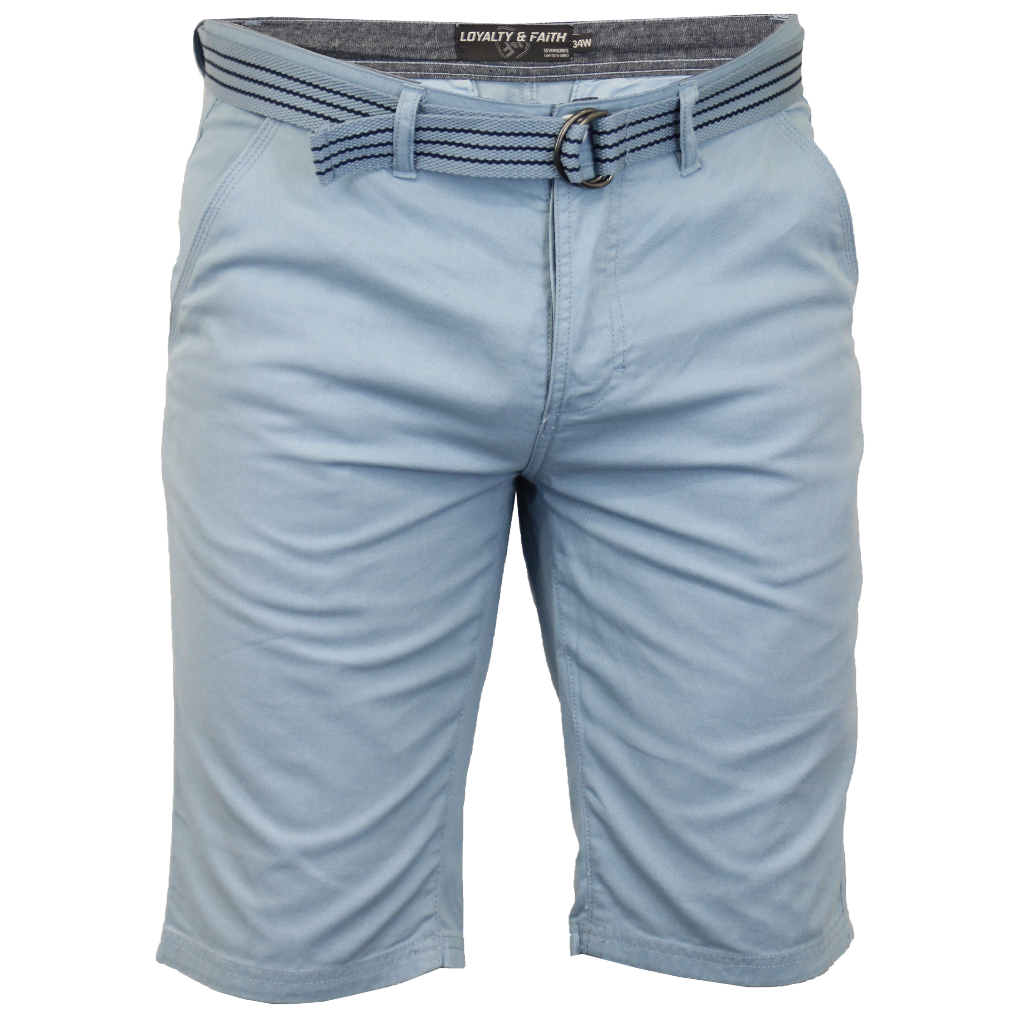 Mens-Chino-Shorts-Threadbare-Cotton-Oxford-Belted-Loyalty-amp-Faith-Seven-Series thumbnail 10