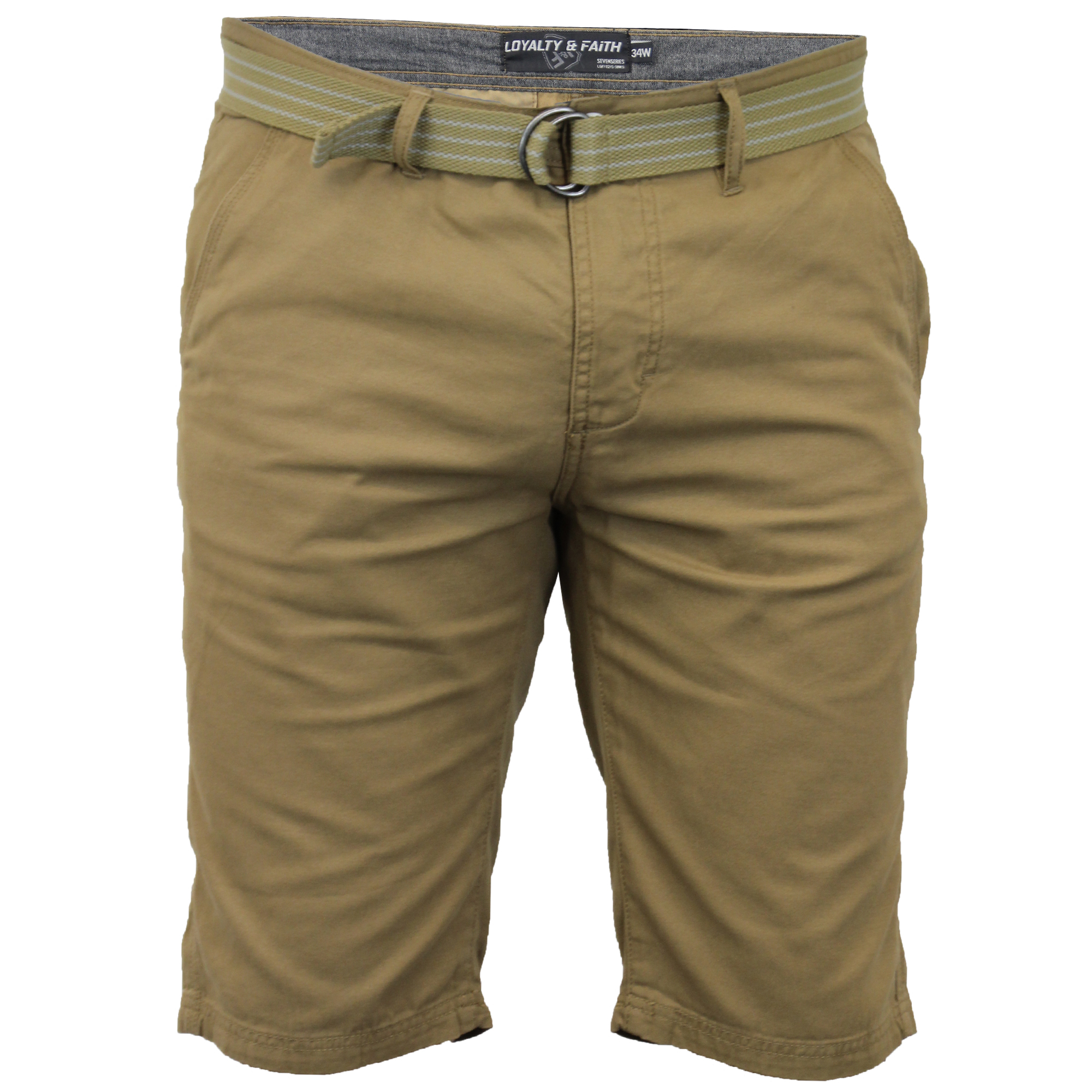 Mens-Chino-Shorts-Threadbare-Cotton-Oxford-Belted-Loyalty-amp-Faith-Seven-Series thumbnail 57