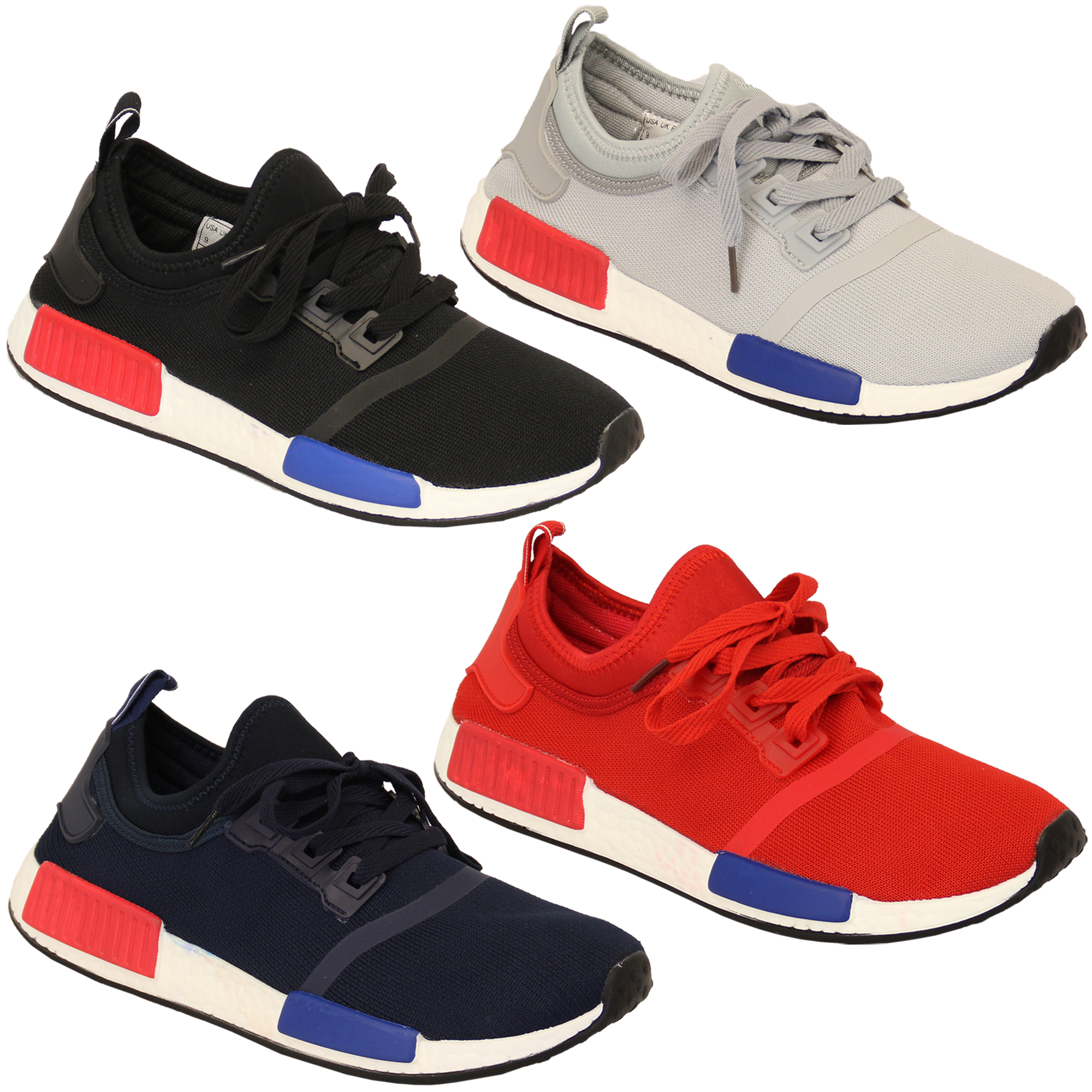Mens-Lace-Up-Gym-Running-Trainers-Mesh-Shoes thumbnail 4