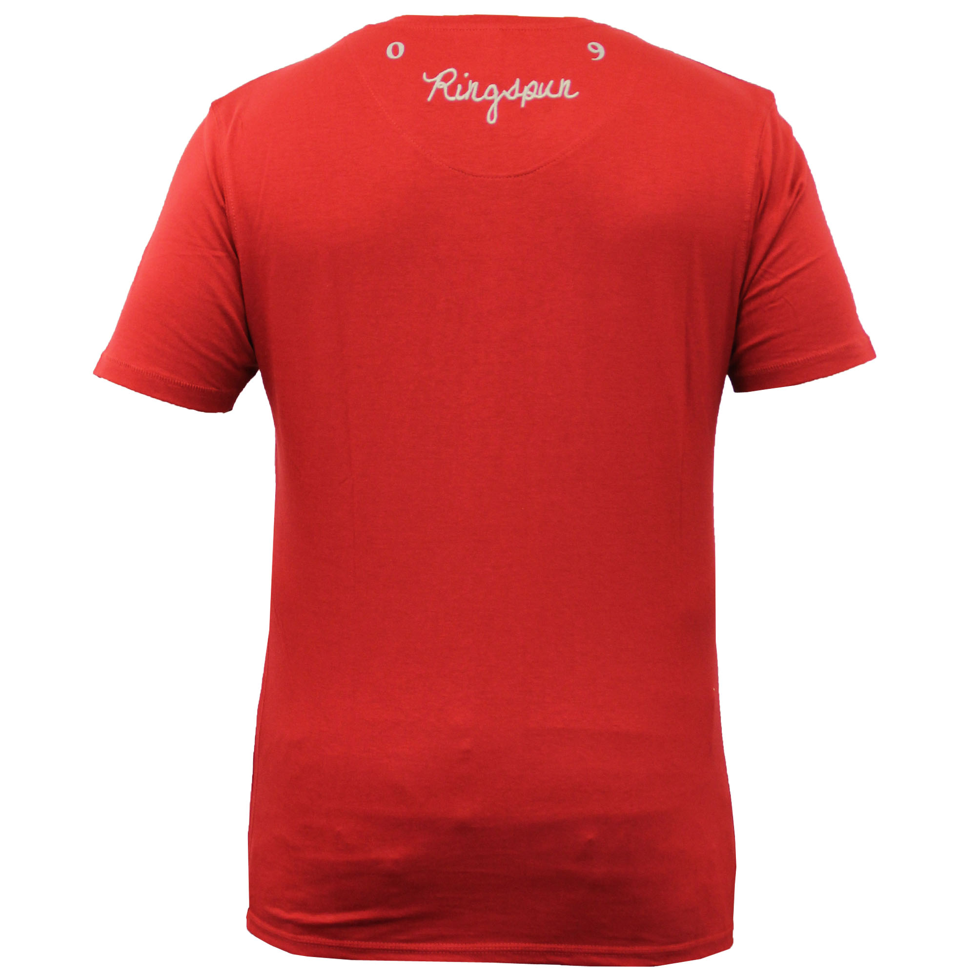 Mens-Short-Sleeved-Embroidered-T-Shirt-By-Ringspun