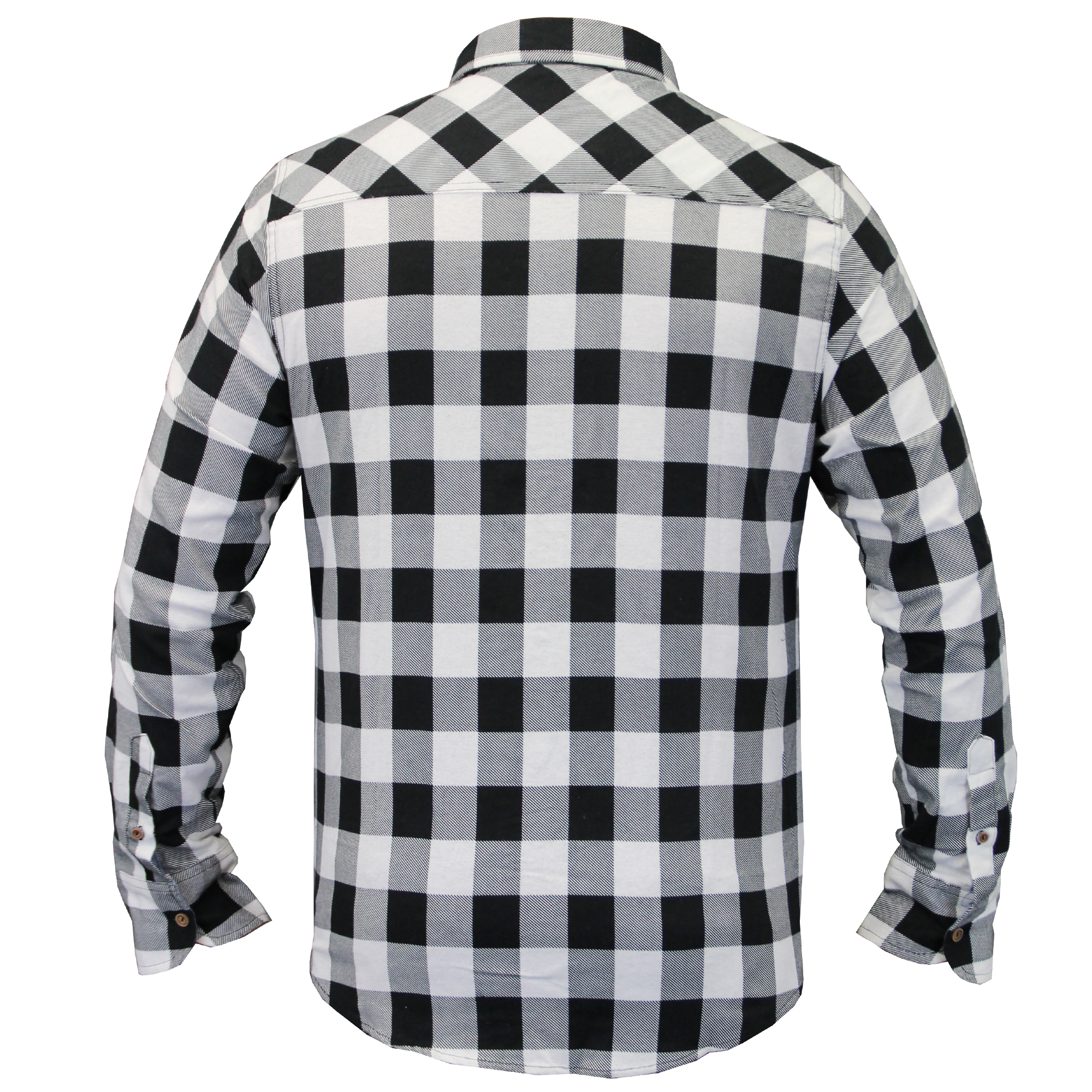 Mens-Checked-Tartan-Long-Sleeved-Collared-Shirt-By-Brave-Soul miniatuur 18