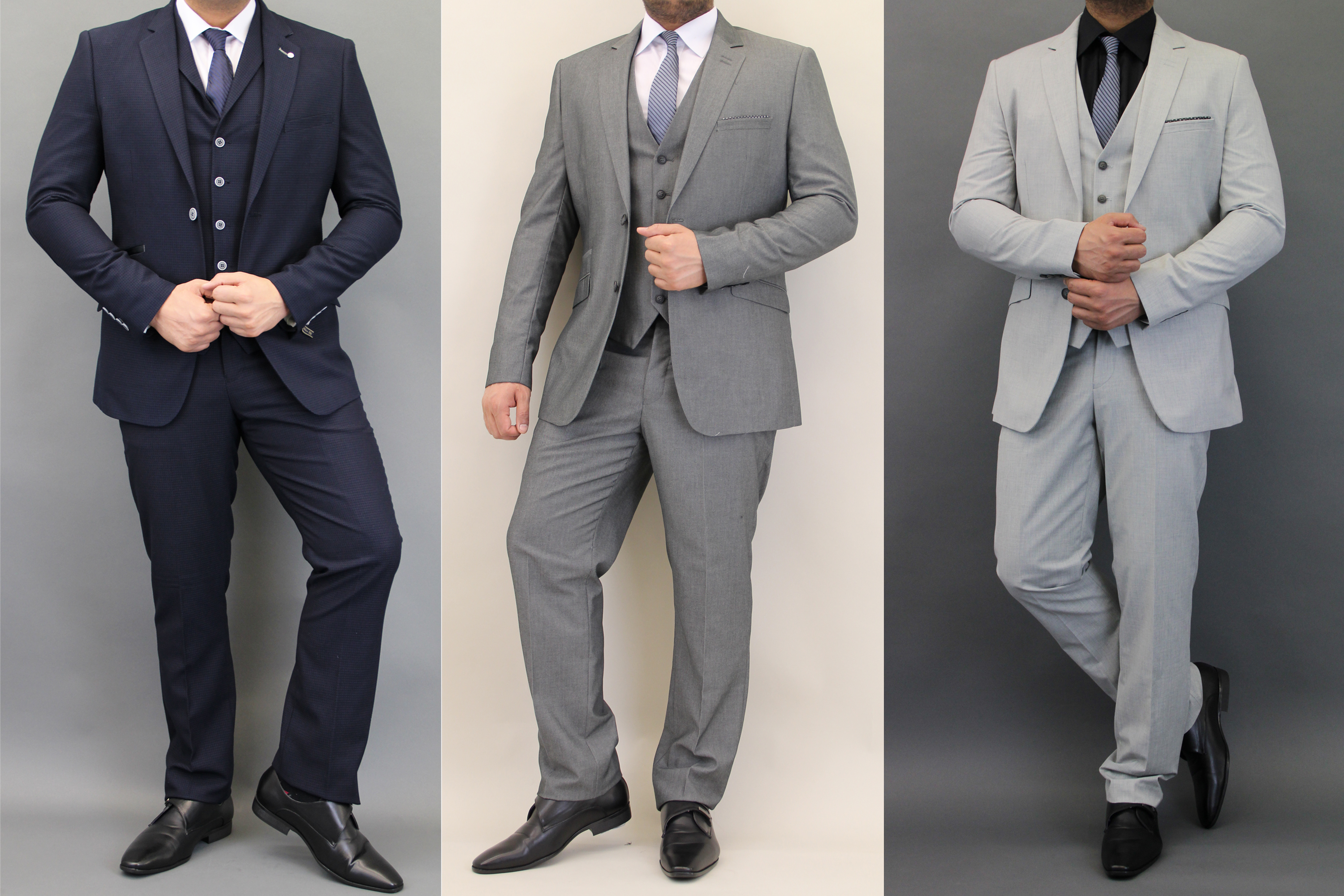 Mens Waffle Blazers Waistcoats Trouser 3 Piece Wedding Suits By ...