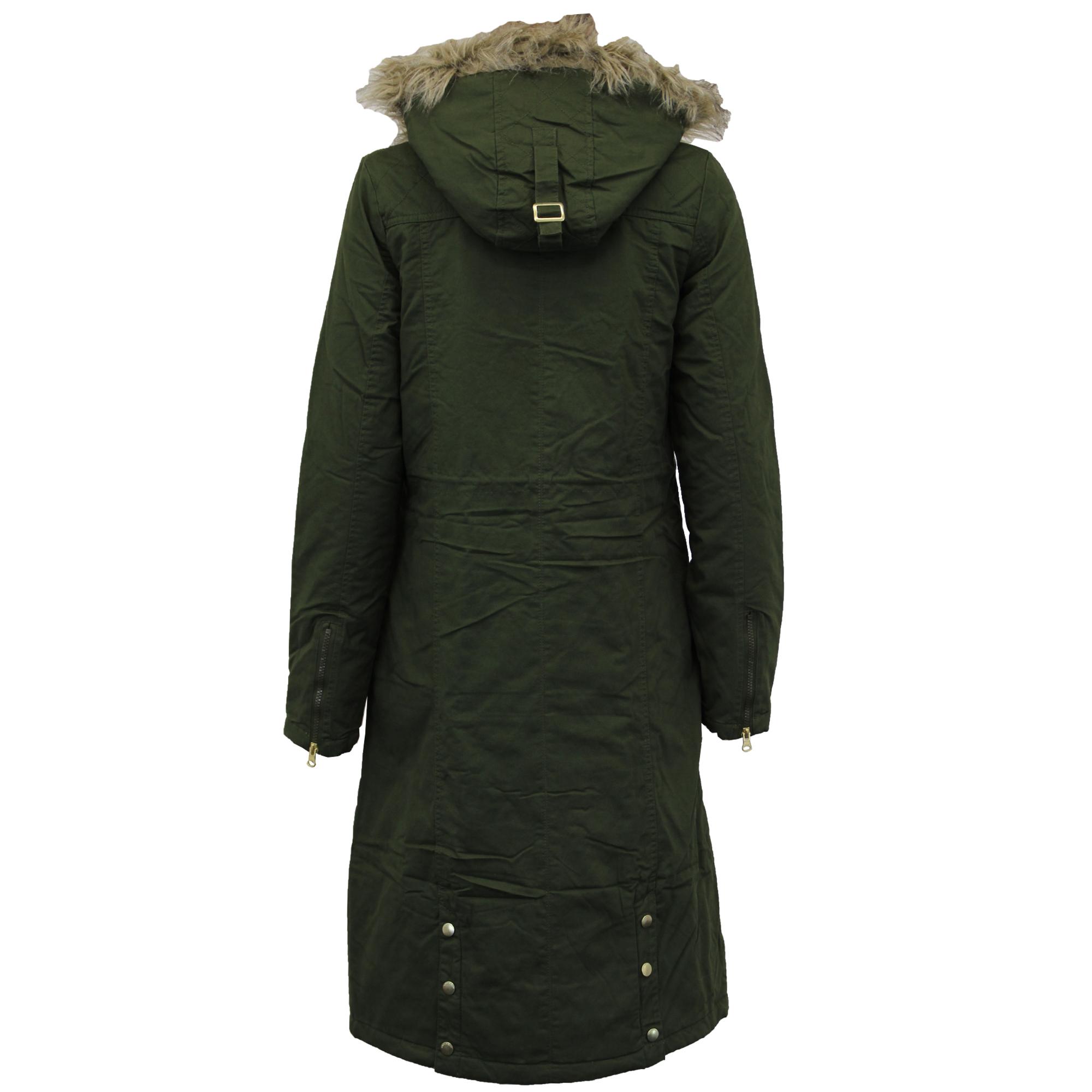 jas Sherpa Khaki parka van regenjas Fleece Soul Dames lange damesshirt en met Brave Keisha w8qx84XR