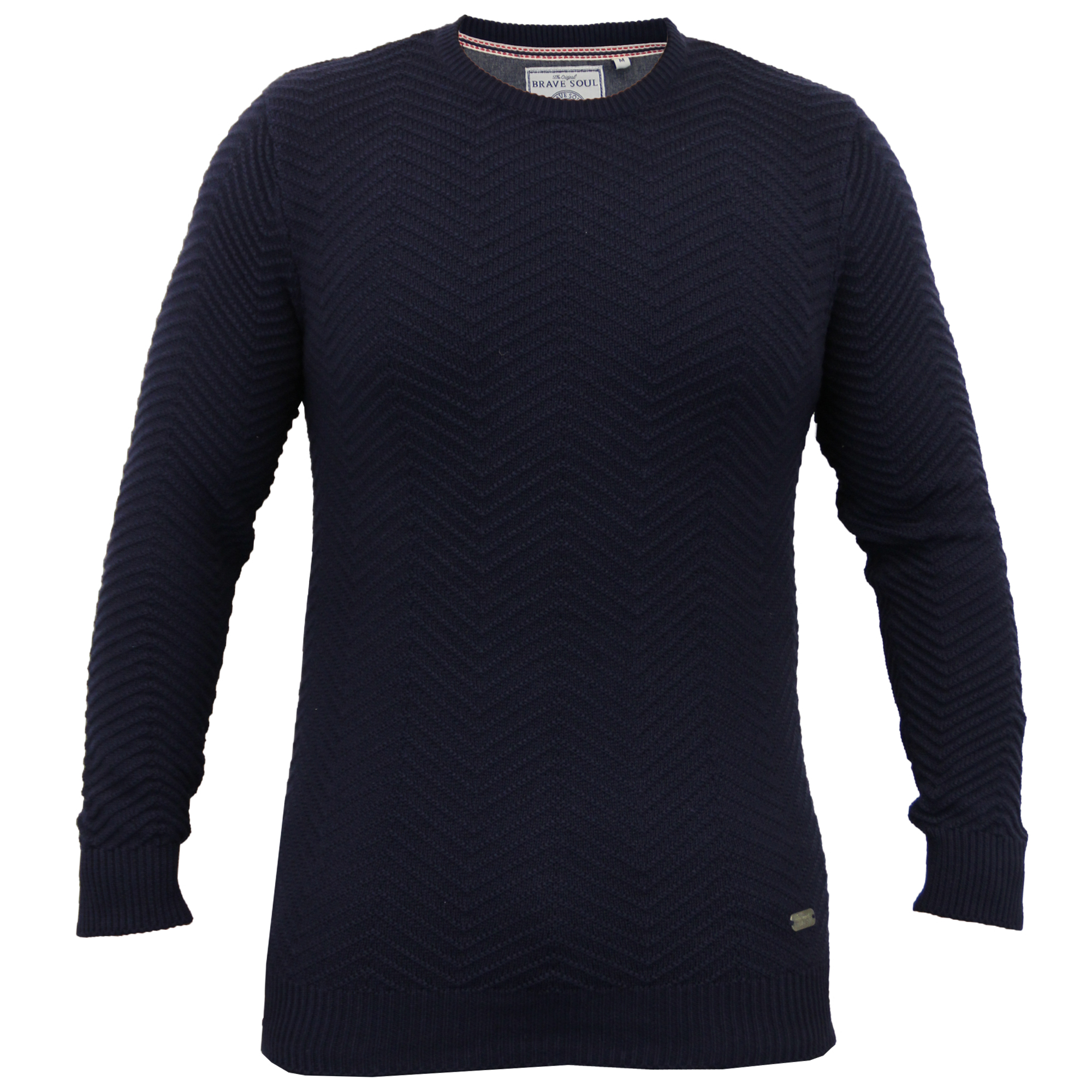 Mens-Knitted-Sweater-Pullover-Jumpers-By-Brave-Soul thumbnail 5