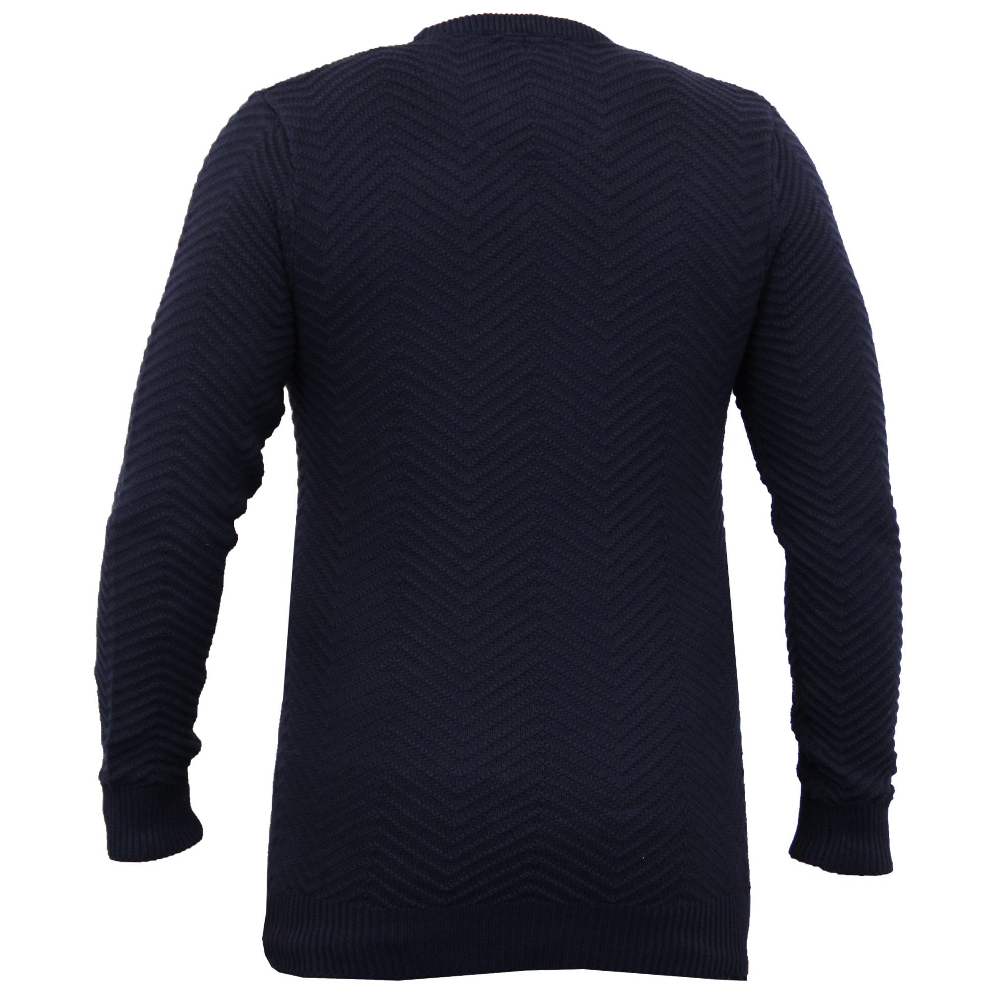 Mens-Knitted-Sweater-Pullover-Jumpers-By-Brave-Soul thumbnail 6