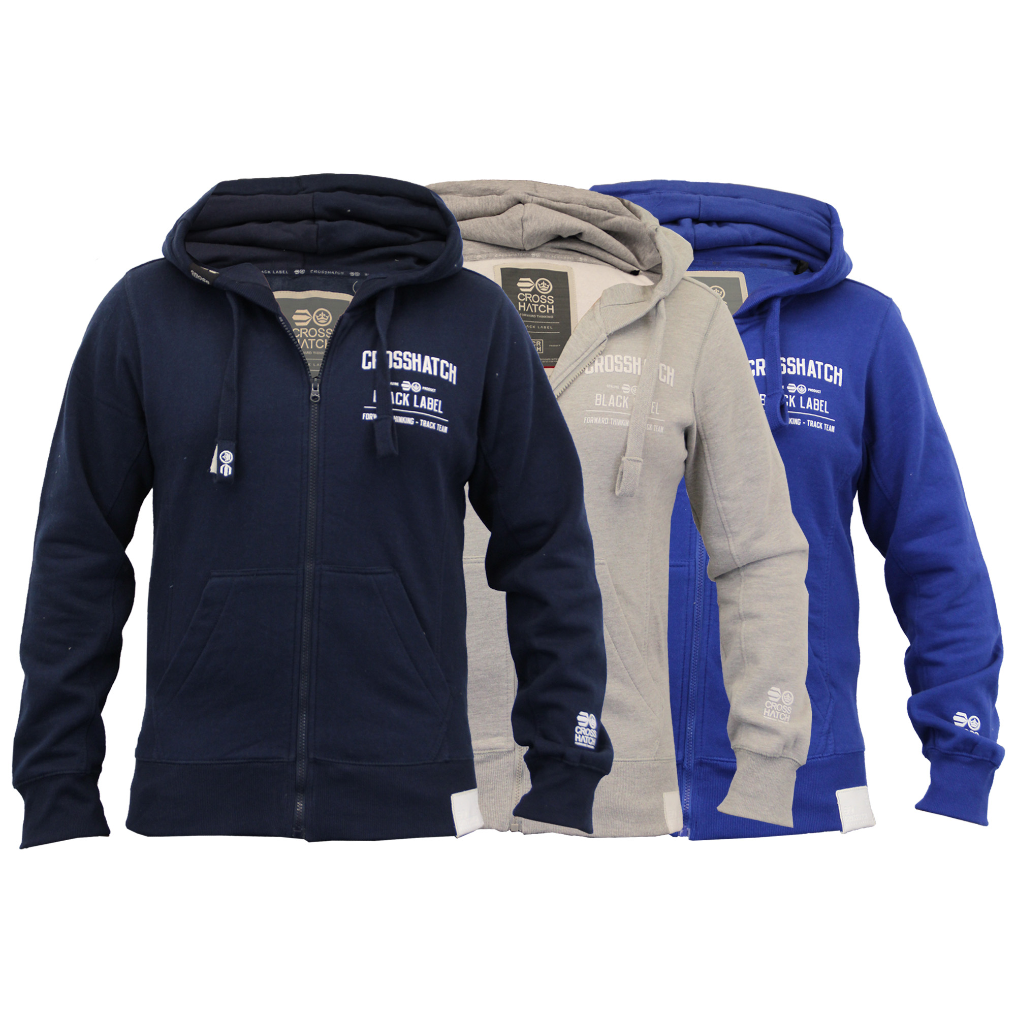 Mens-Hooded-Fleece-Lined-Top-Sweatshirt-By-Crosshatch thumbnail 4