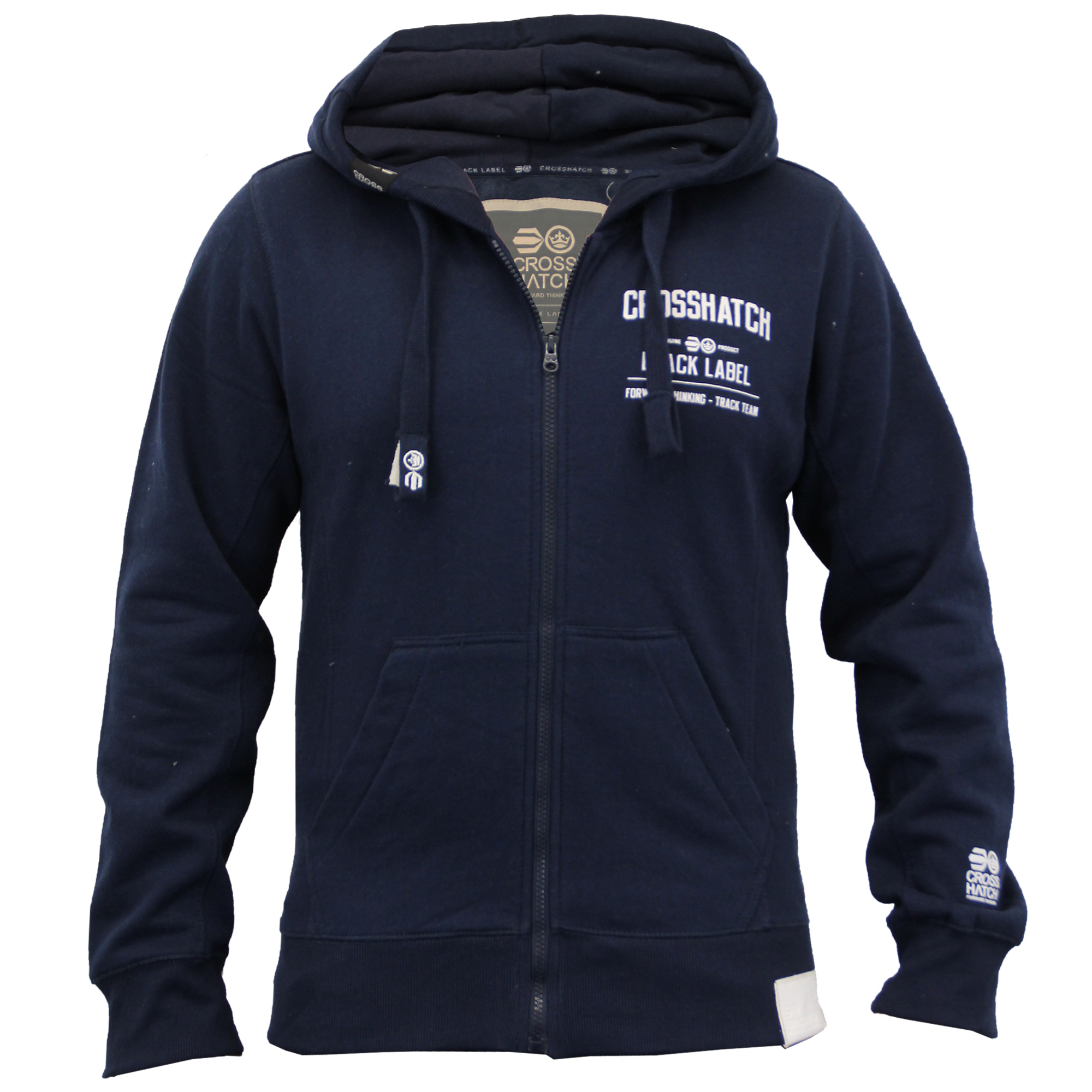 Mens-Hooded-Fleece-Lined-Top-Sweatshirt-By-Crosshatch thumbnail 5
