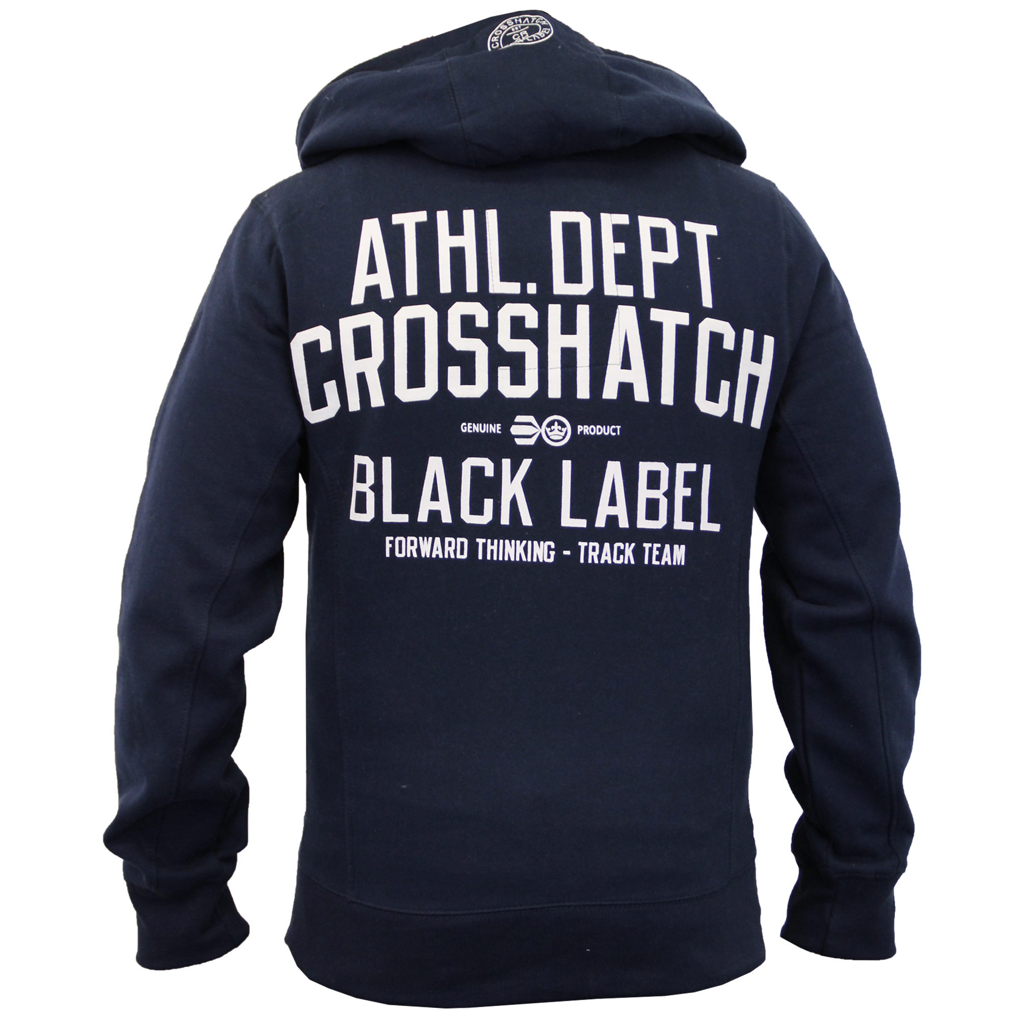 Mens-Hooded-Fleece-Lined-Top-Sweatshirt-By-Crosshatch thumbnail 7