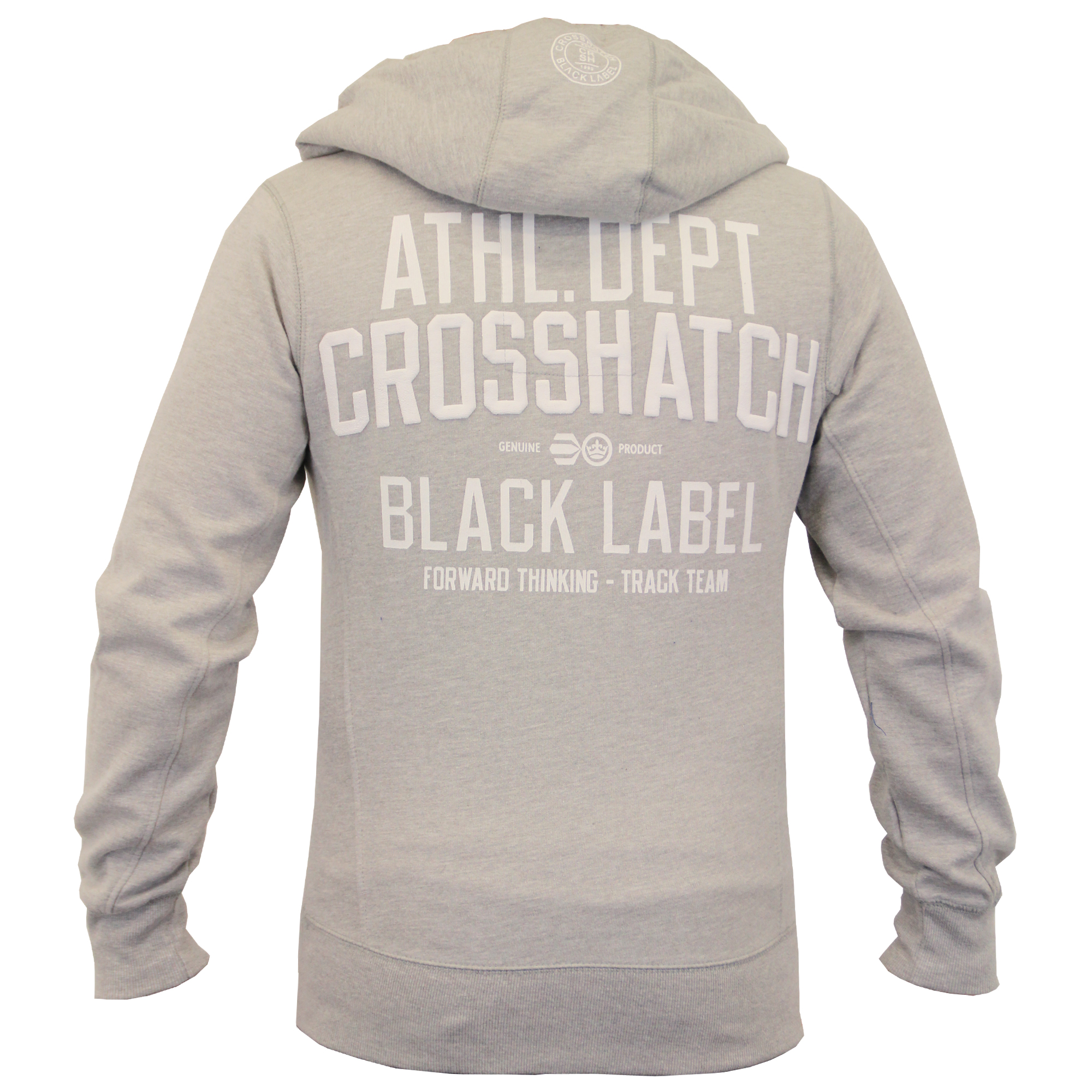 Mens-Hooded-Fleece-Lined-Top-Sweatshirt-By-Crosshatch thumbnail 3