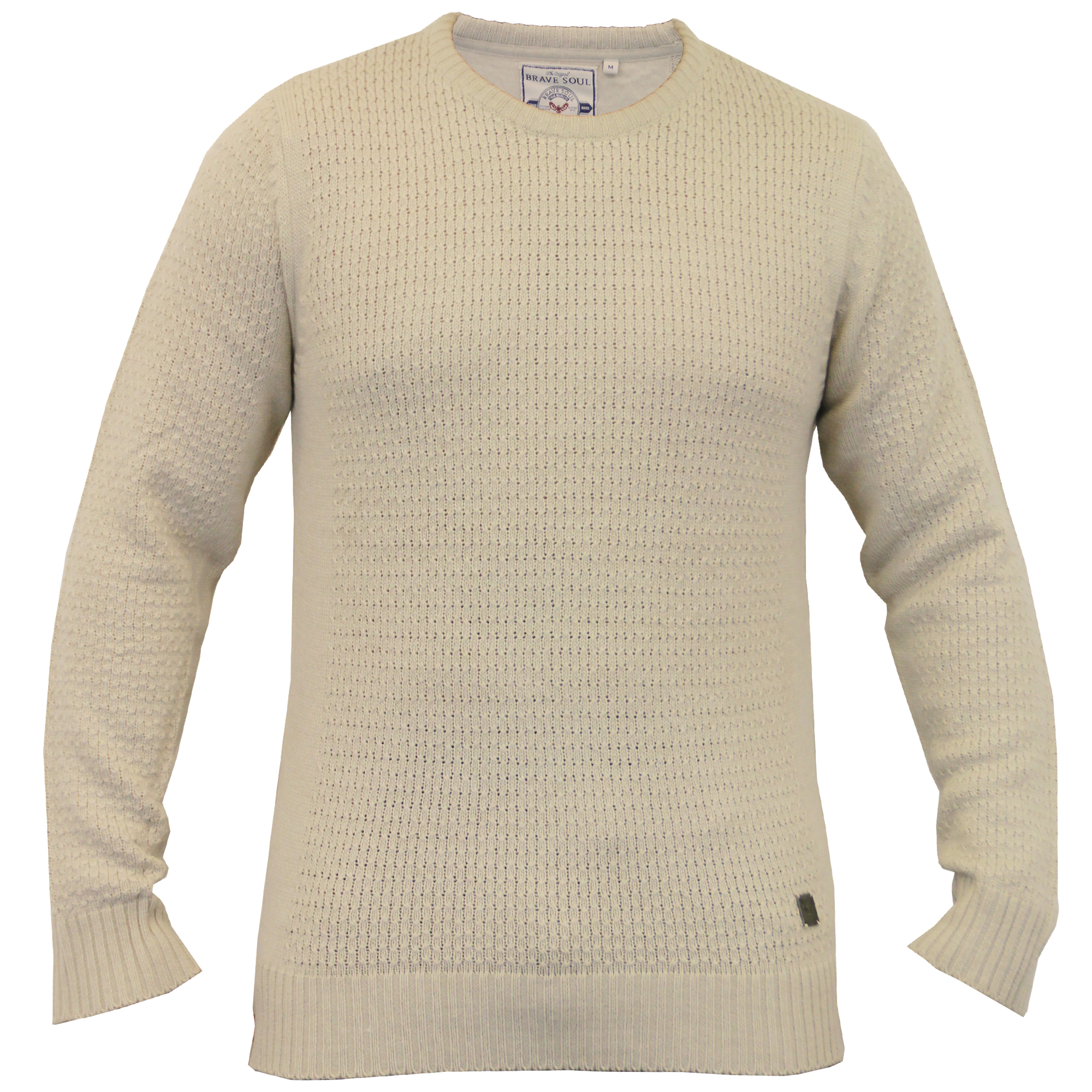 Mens-Knitted-Sweater-Pullover-Jumpers-By-Brave-Soul thumbnail 8