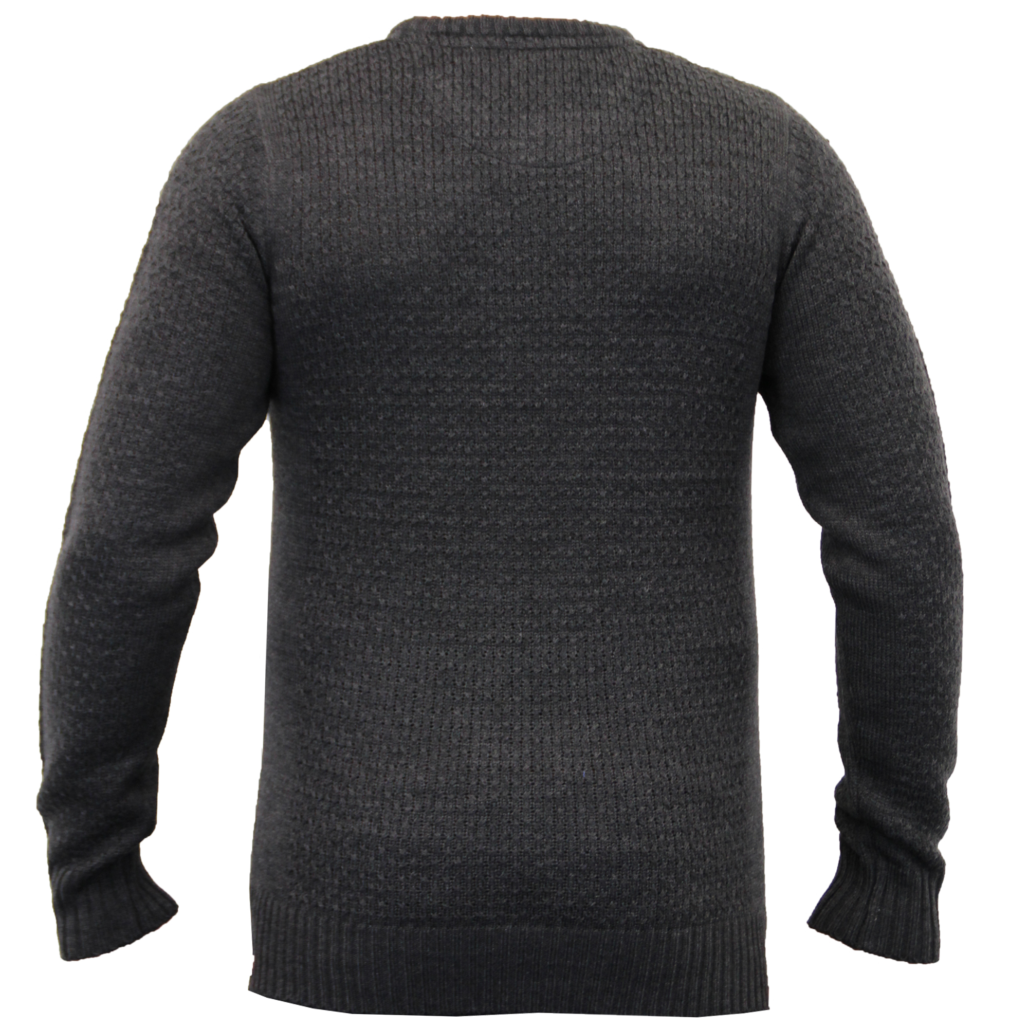 Mens-Knitted-Sweater-Pullover-Jumpers-By-Brave-Soul thumbnail 3