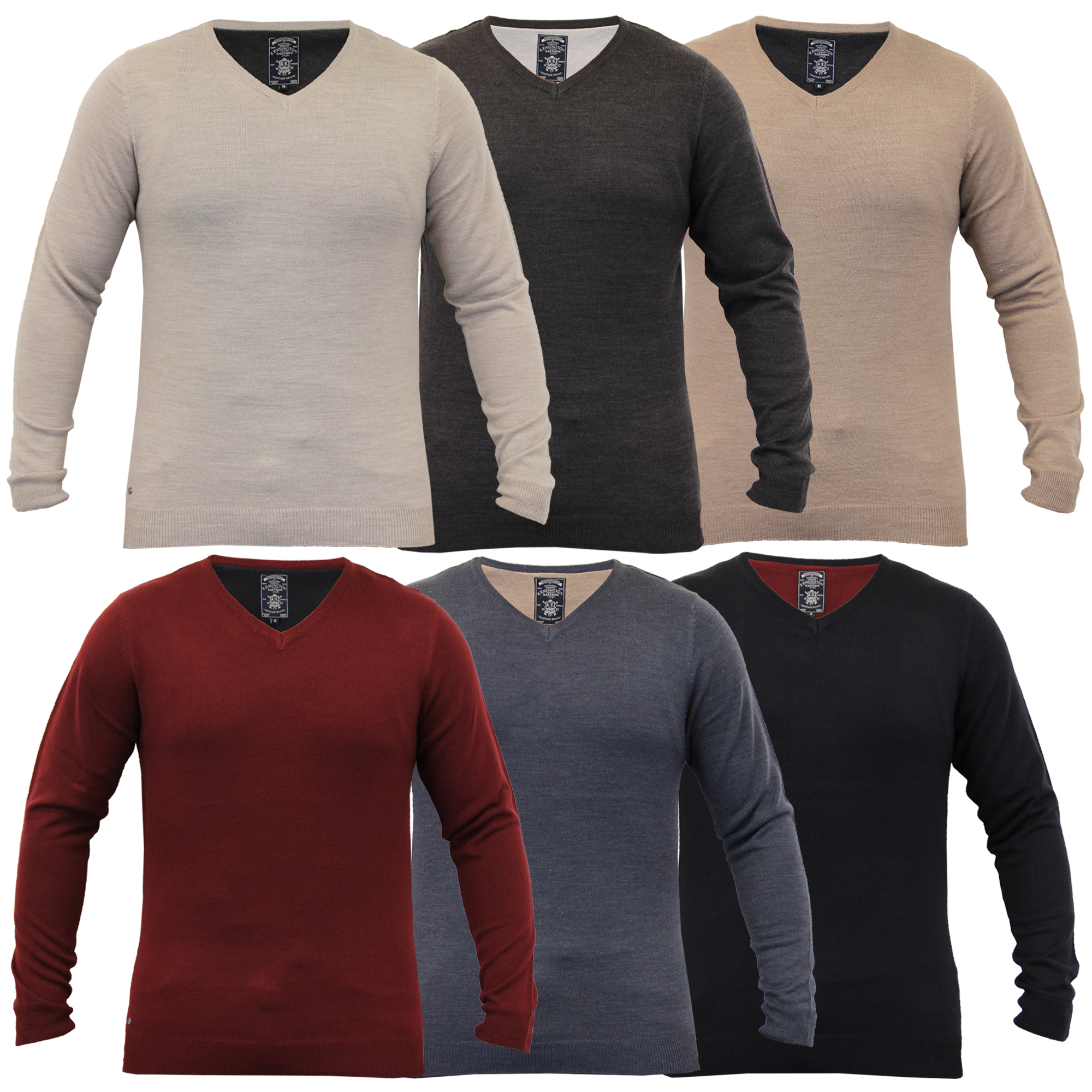 Mens-Knitted-Jumper-Pullover-Top-Winter-Sweater-By-Kensington-Eastside thumbnail 3