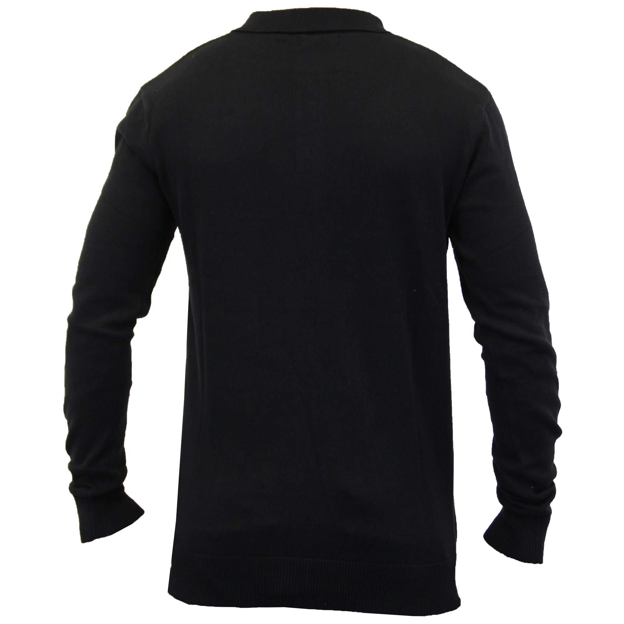 Mens-Knitted-Jumper-Brave-Soul-Polo-Top-Sweater-PLACKET-Pullover-Lightweight-New thumbnail 5