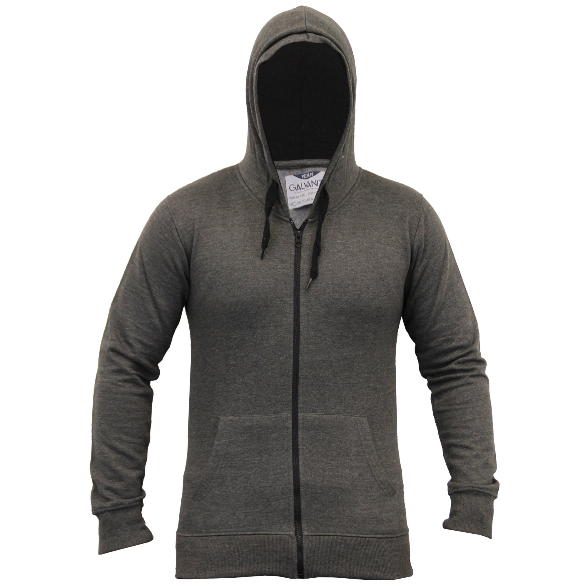 Mens-Diamond-Quilted-Hooded-Top-Fleece-Lined-Sweatshirt-By-Galvanize thumbnail 11