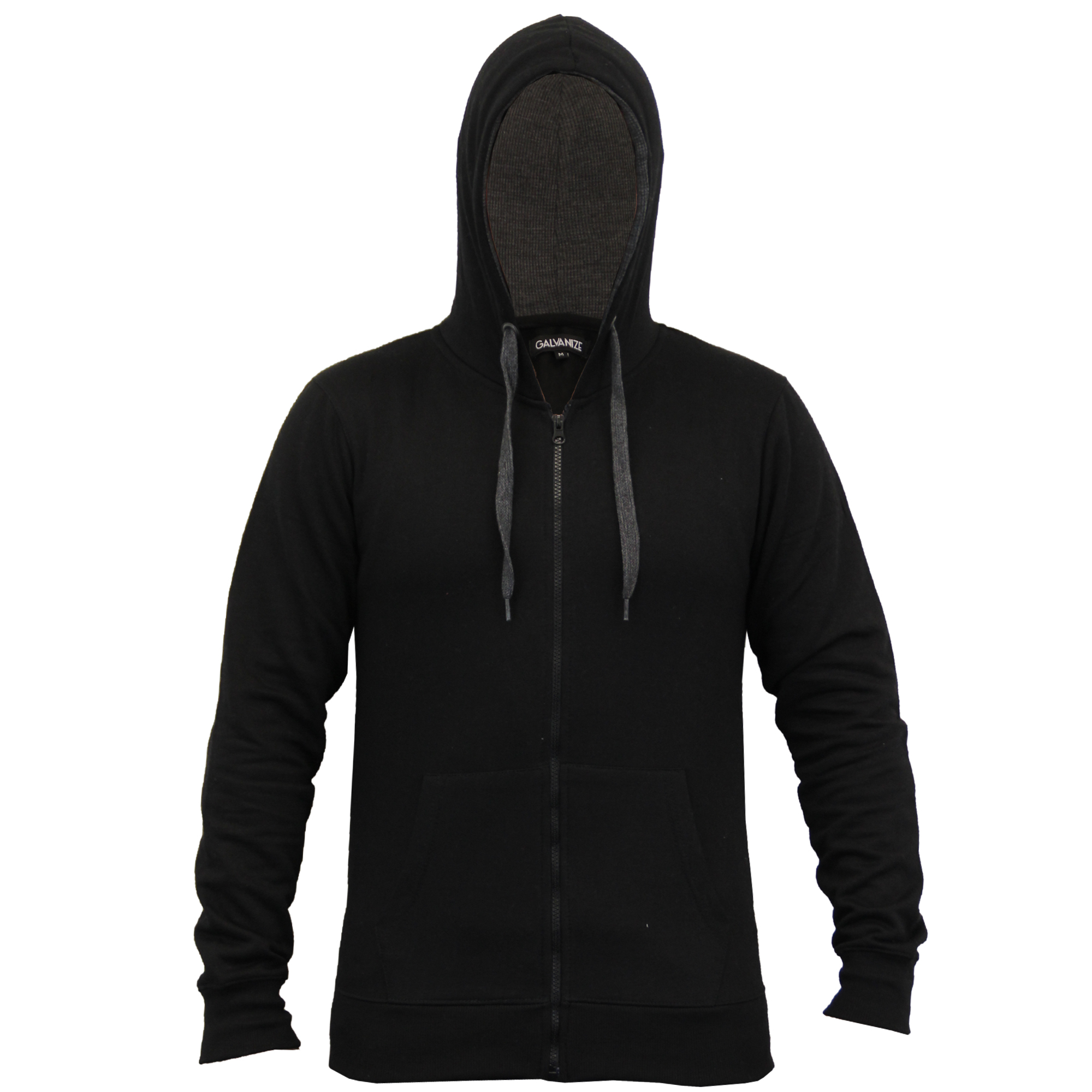 Mens-Diamond-Quilted-Hooded-Top-Fleece-Lined-Sweatshirt-By-Galvanize thumbnail 3