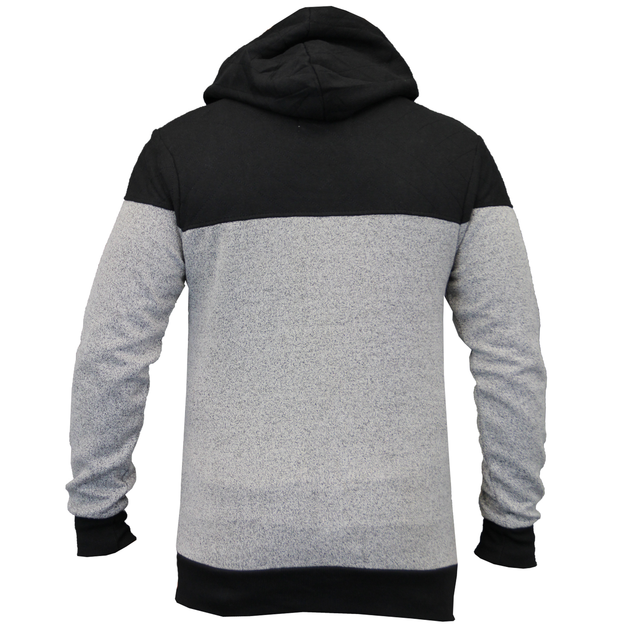 Mens-Diamond-Quilted-Hooded-Top-Fleece-Lined-Sweatshirt-By-Galvanize thumbnail 8