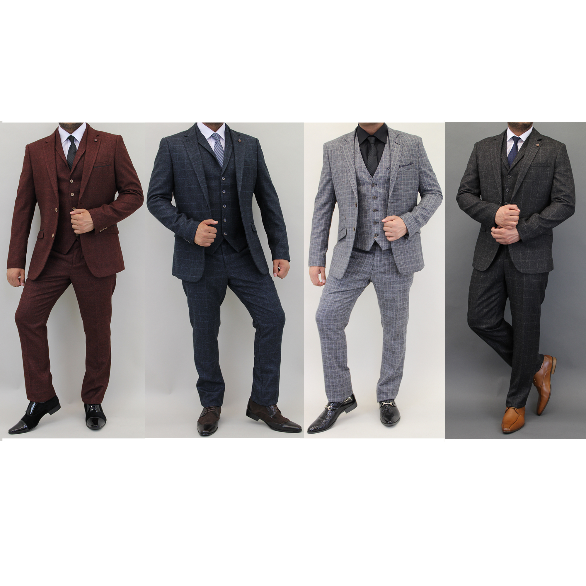 Mens Designer Cavani Tweed Blazer Waistcoat Trousers £120 For Full 3 Piece Suit