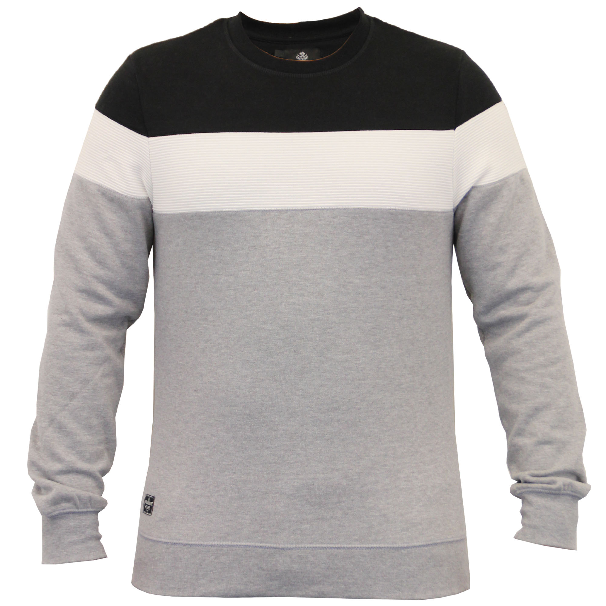 Mens-Sweatshirt-Threadbare-Pullover-Top-Block-Pattern-Fleece-Lined-Winter-New thumbnail 4