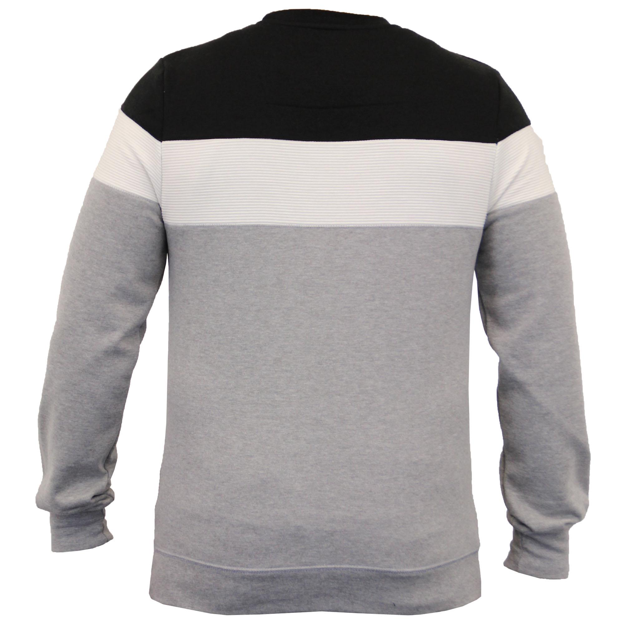 Mens-Sweatshirt-Threadbare-Pullover-Top-Block-Pattern-Fleece-Lined-Winter-New thumbnail 3