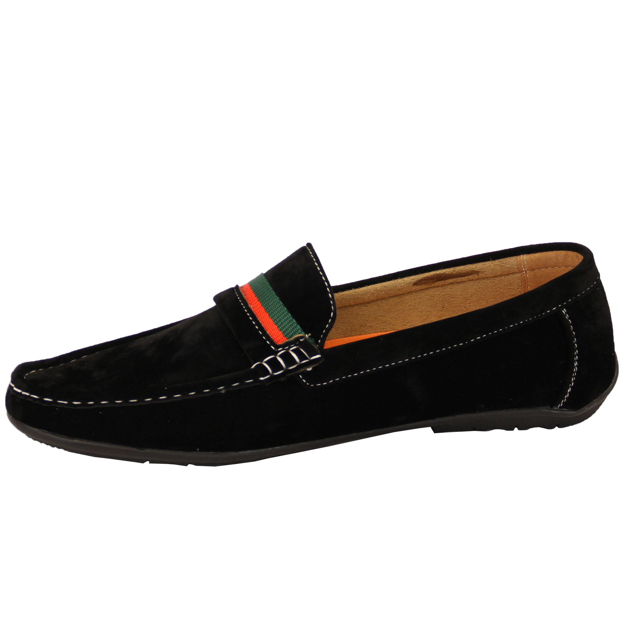 cde0f115c5b1d Mens Moccasins Suede Look Driving Loafers Slip On Boat Shoes Ribbon ...