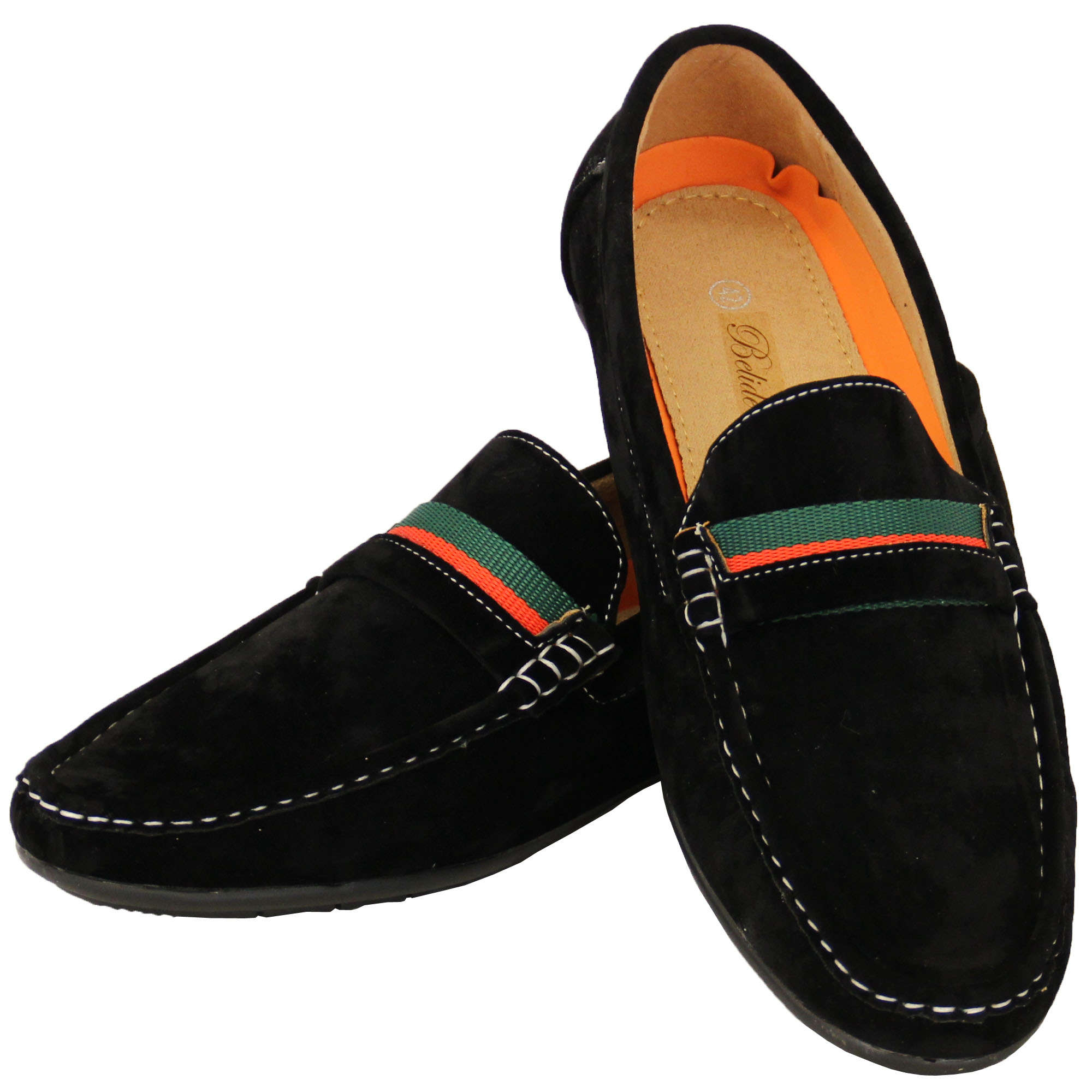 Mens-Moccasins-Suede-Look-Driving-Loafers-Slip-On-Boat-Shoes-Ribbon-Tassle-New thumbnail 5