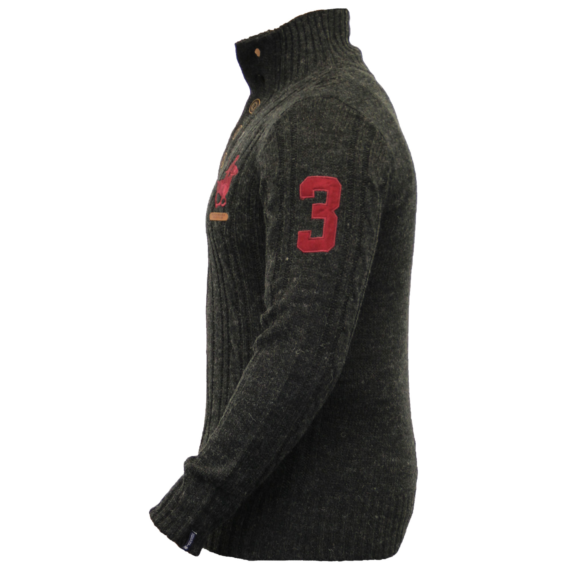 Mens-Wool-Mix-Jumpers-Santa-Monica-Cable-Knitted-Jacquard-Sweater-Pullover-New thumbnail 3