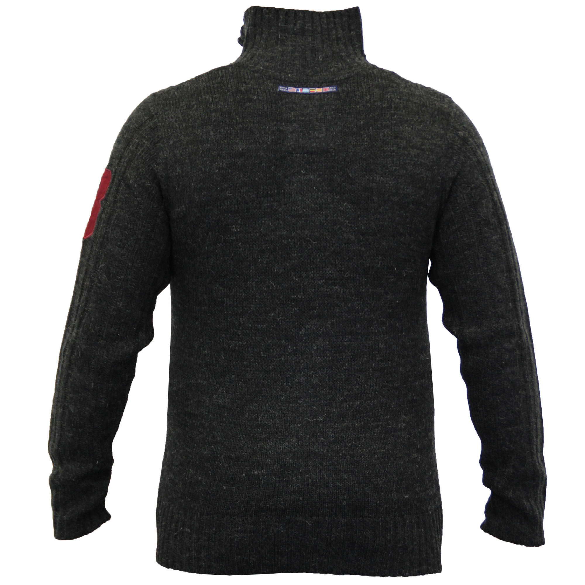 Mens-Wool-Mix-Jumpers-Santa-Monica-Cable-Knitted-Jacquard-Sweater-Pullover-New thumbnail 4