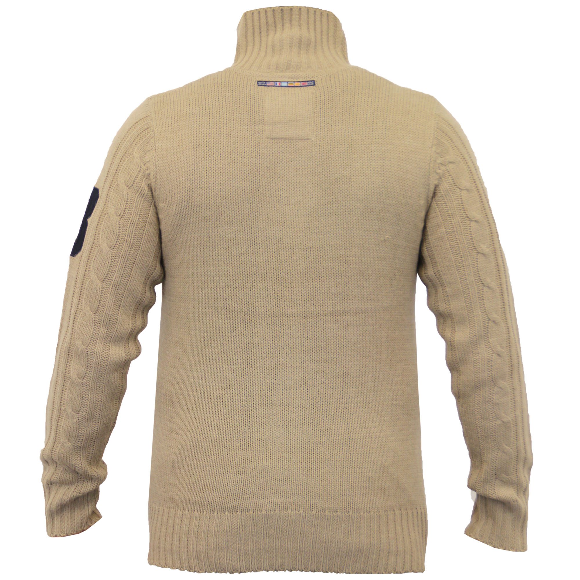 Mens-Wool-Mix-Jumpers-Santa-Monica-Cable-Knitted-Jacquard-Sweater-Pullover-New thumbnail 14
