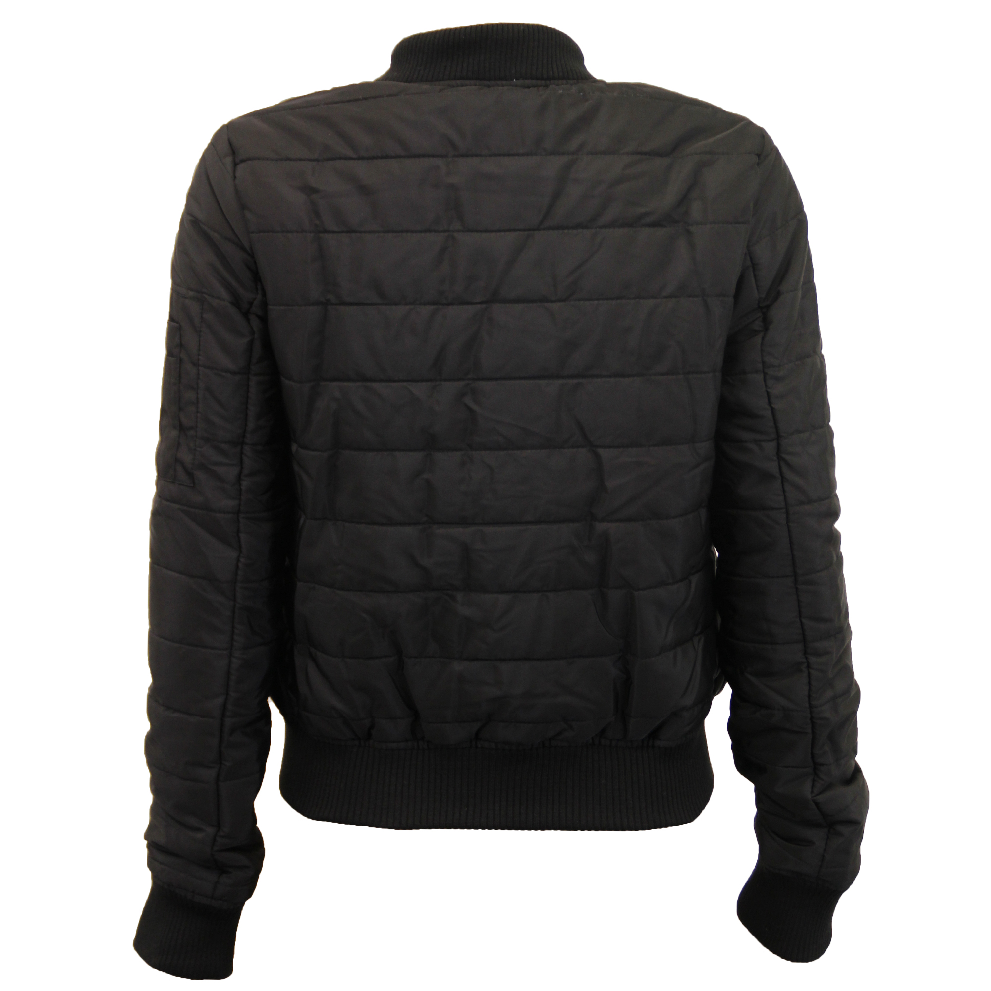 5befdc865 Details about ladies jacket Brave Soul womens coat MA1 harrington padded  quilted bomber winter
