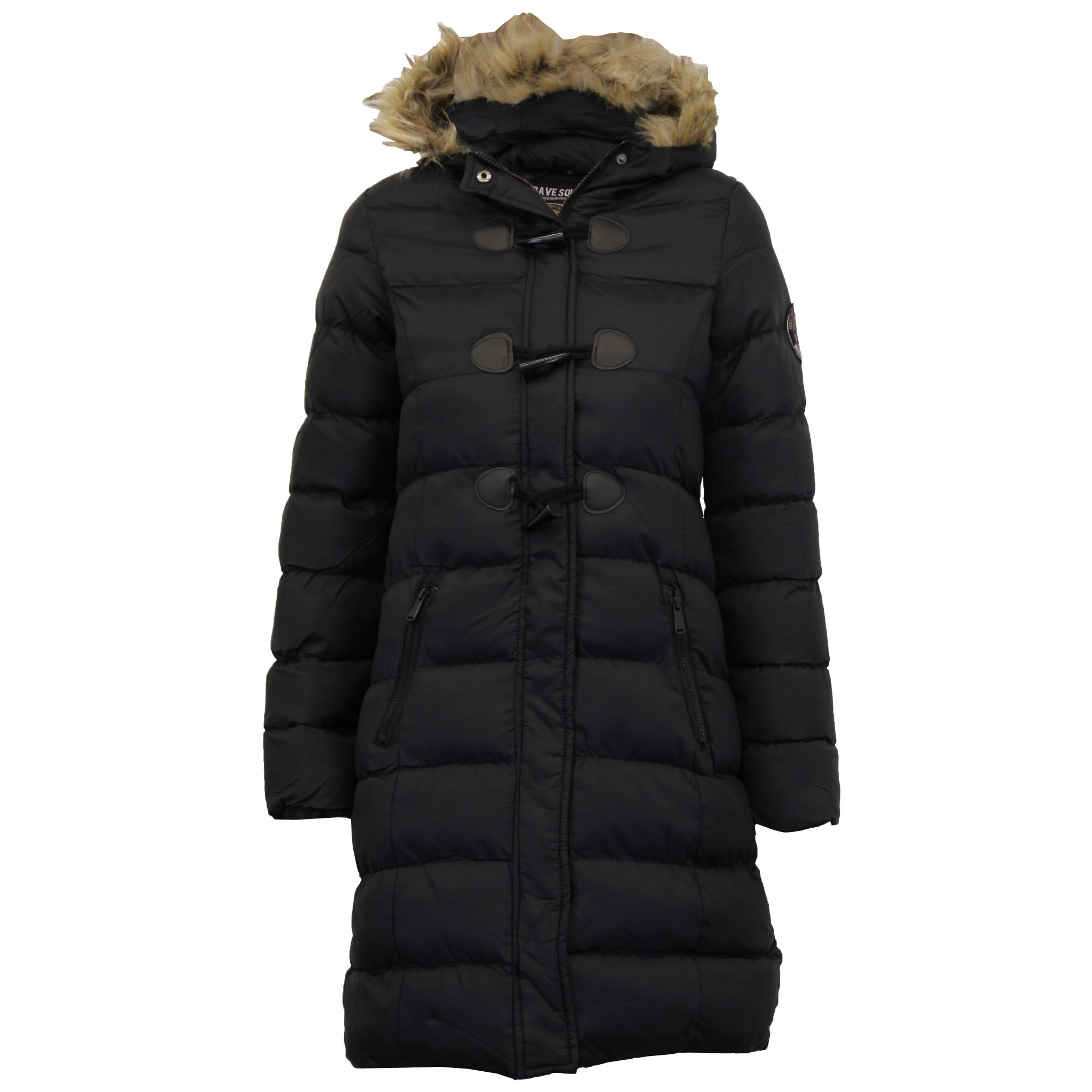 b923c4323 Details about Ladies Long Parka Bubble Jacket Brave Soul Womens Coat Padded  Hooded Fur Quilted
