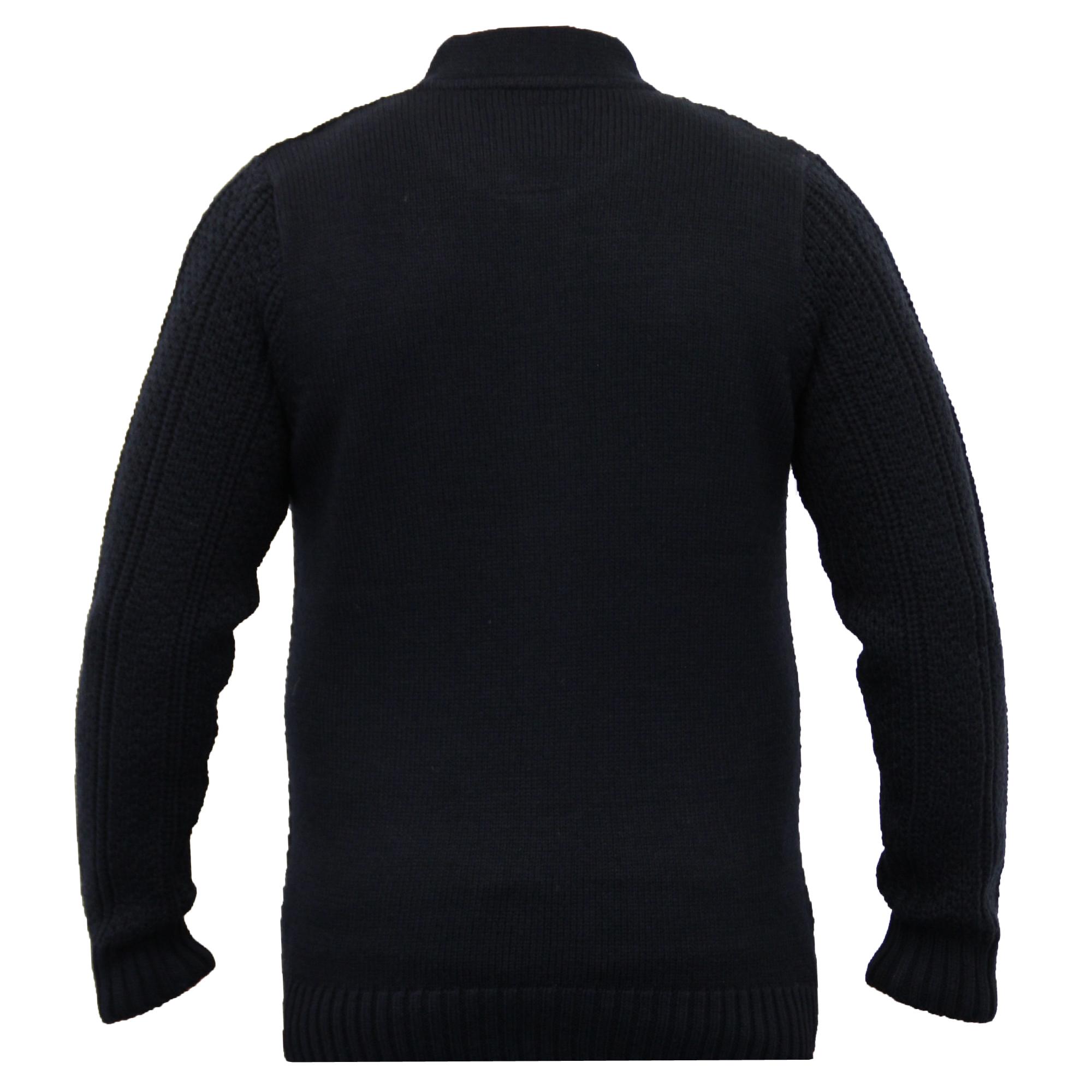 Mens-Wool-Mix-Cardigans-Threadbare-Knitted-Sweater-Broken-Standard-Shawl-Winter thumbnail 21