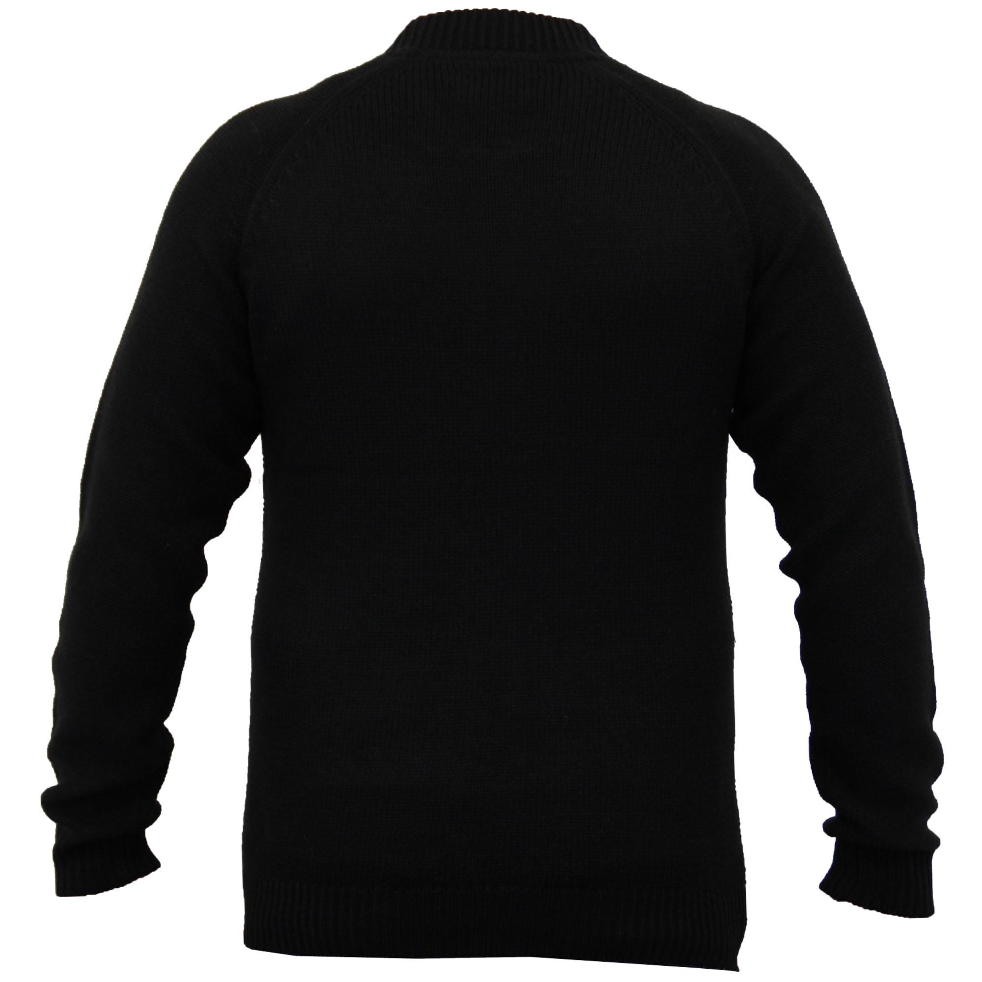 Mens-Wool-Mix-Cardigans-Threadbare-Knitted-Sweater-Broken-Standard-Shawl-Winter thumbnail 3