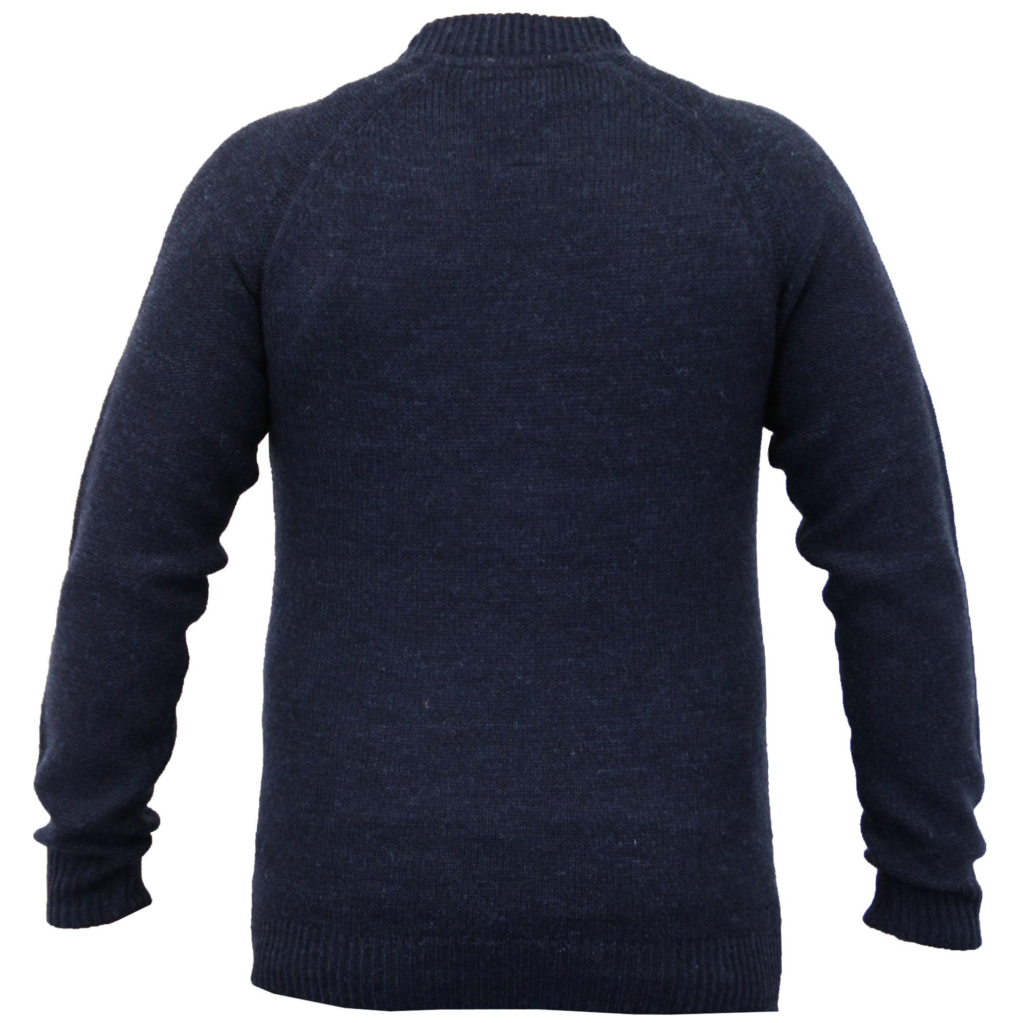 Mens-Wool-Mix-Cardigans-Threadbare-Knitted-Sweater-Broken-Standard-Shawl-Winter thumbnail 15