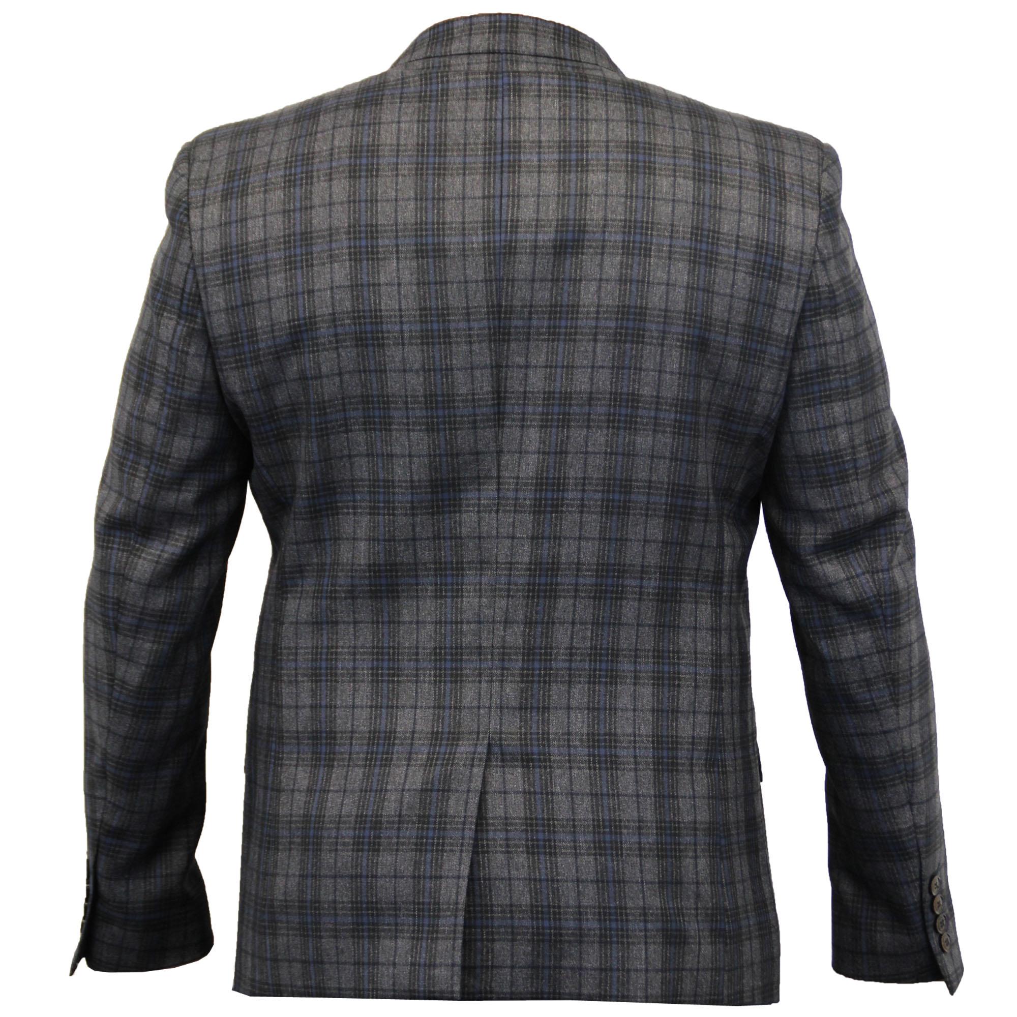 Blazers And Jackets: Mens Blazer Cavani Coat Dinner Suit Slim Fit Jacket Tartan