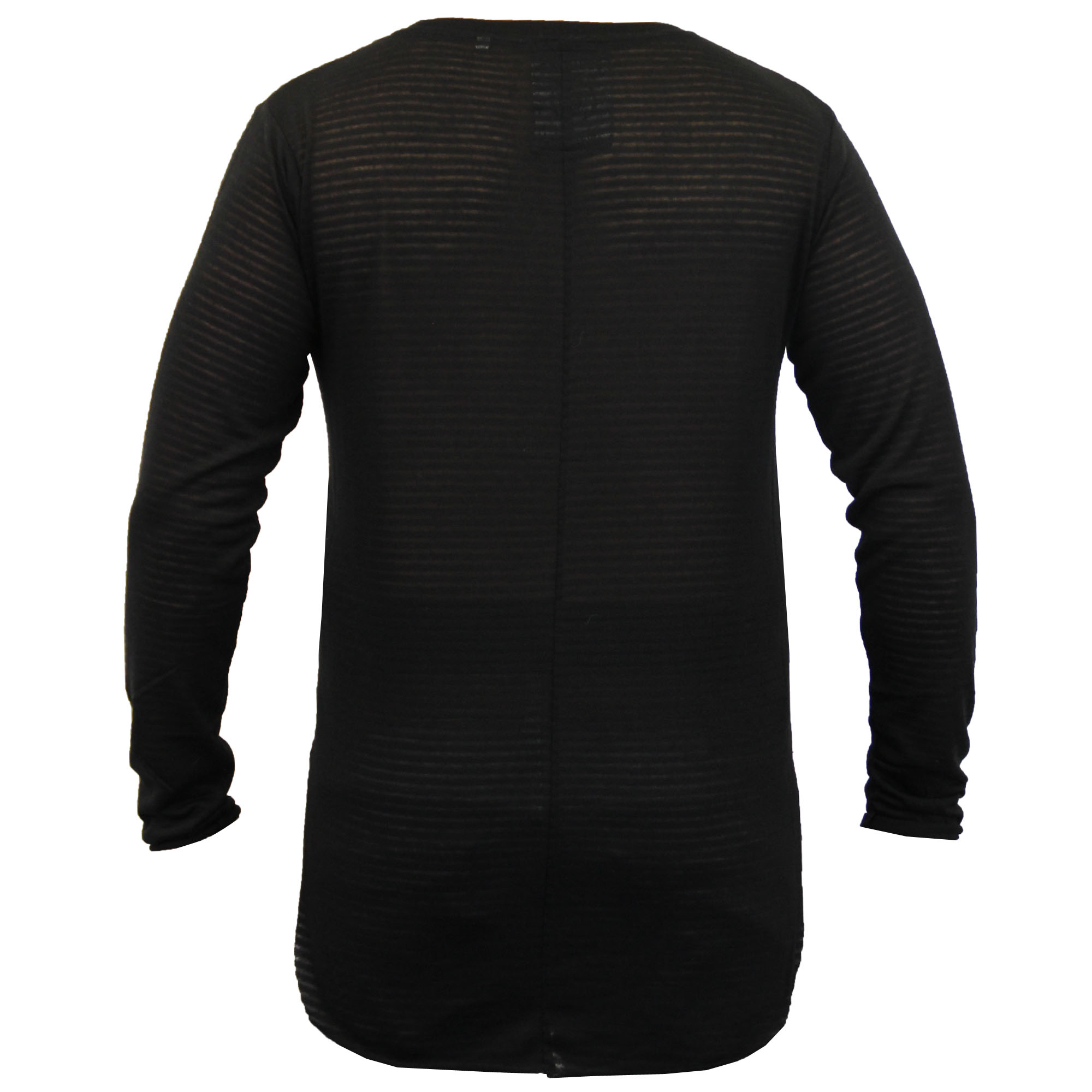 Mens-Long-Line-Jumper-Soul-Star-Sweater-High-Low-Hem-Top-Knitted-Pullover-Winter thumbnail 6