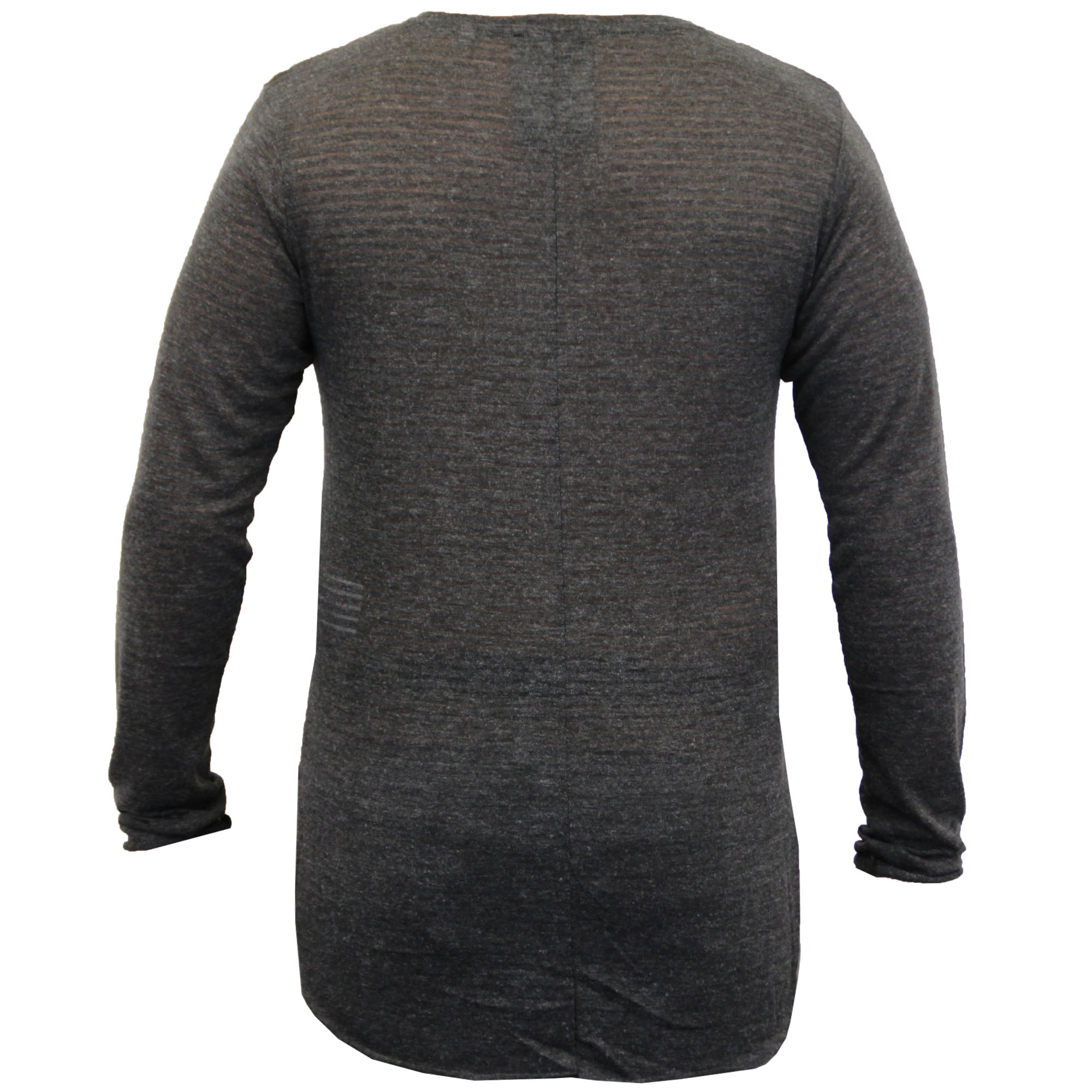 Mens-Long-Line-Jumper-Soul-Star-Sweater-High-Low-Hem-Top-Knitted-Pullover-Winter thumbnail 12