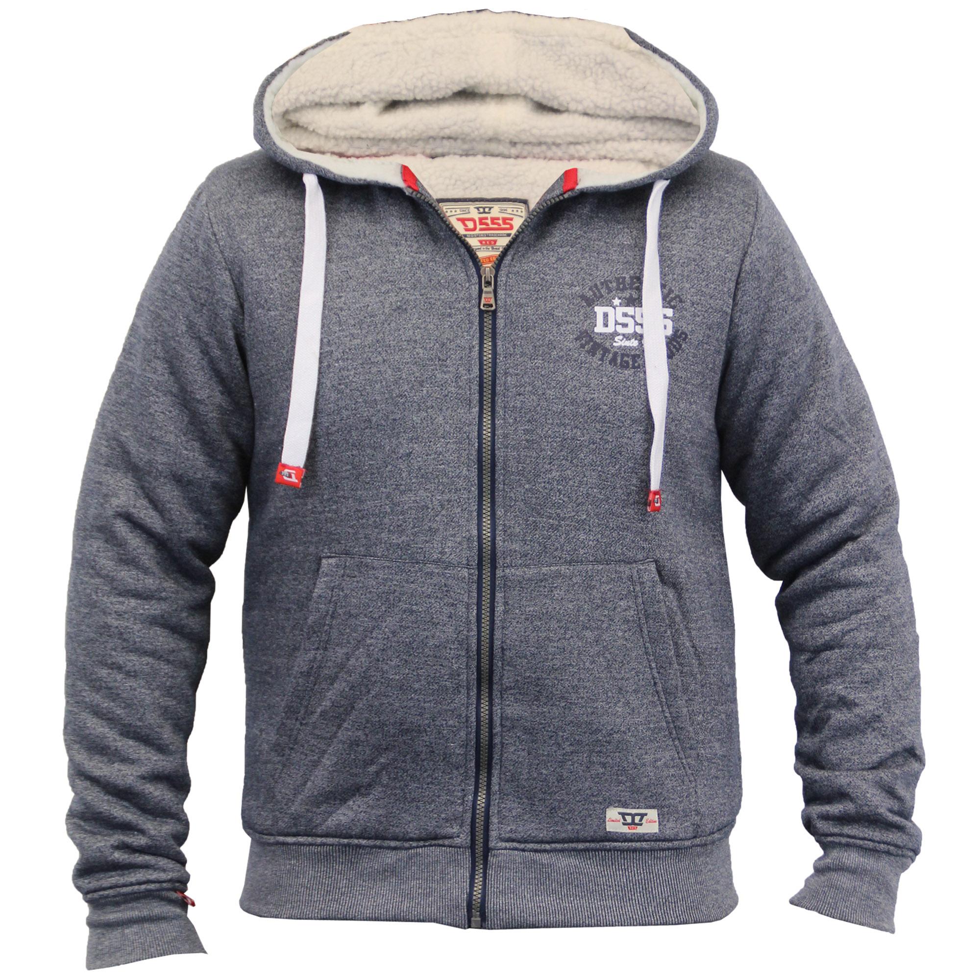 Mens Jacket D555 Duke Sweat Coat Hooded Big King Size ...