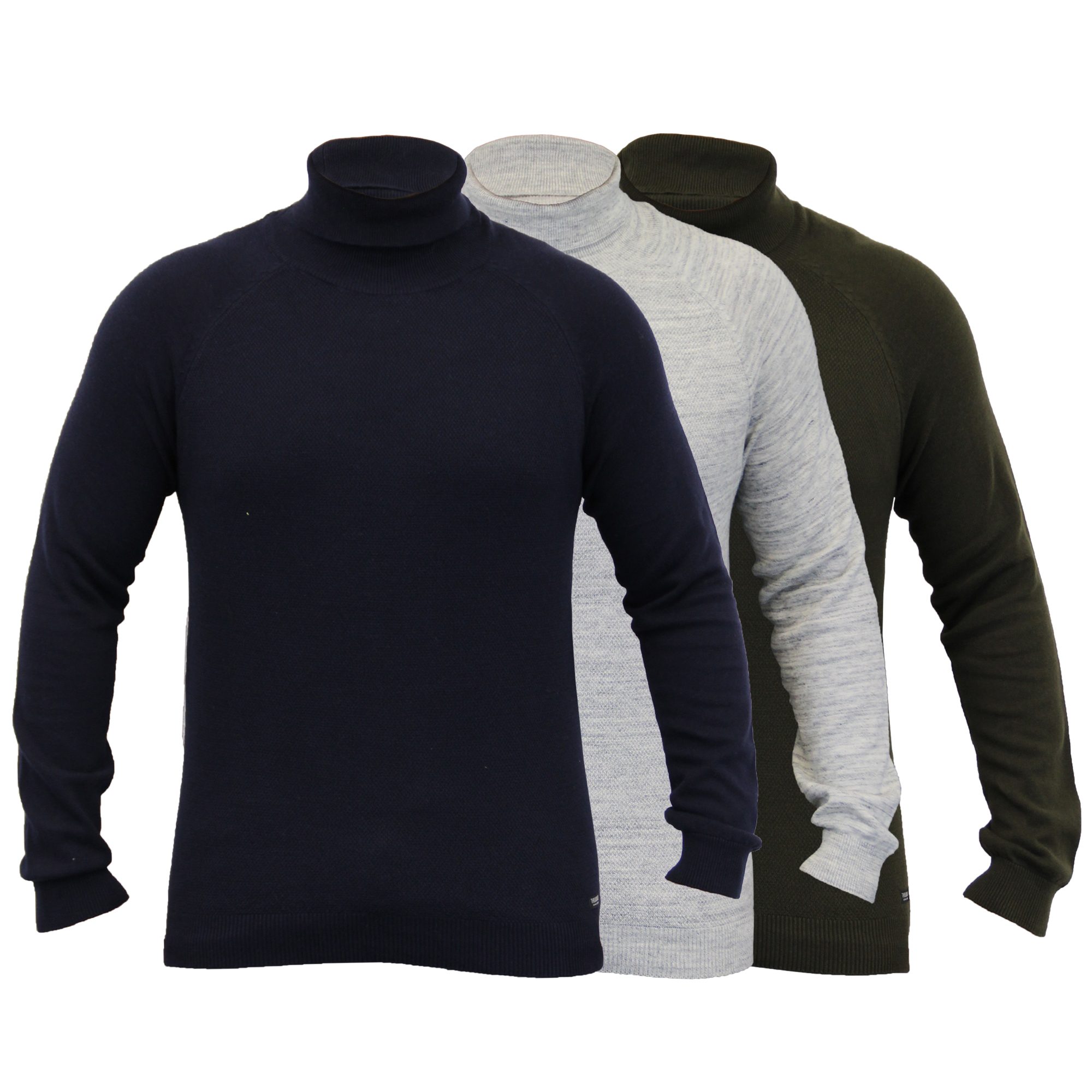 Mens-Jumper-Threadbare-Knitted-Sweater-Turtle-Polo-Neck-Pullover-Top-Winter-New thumbnail 4