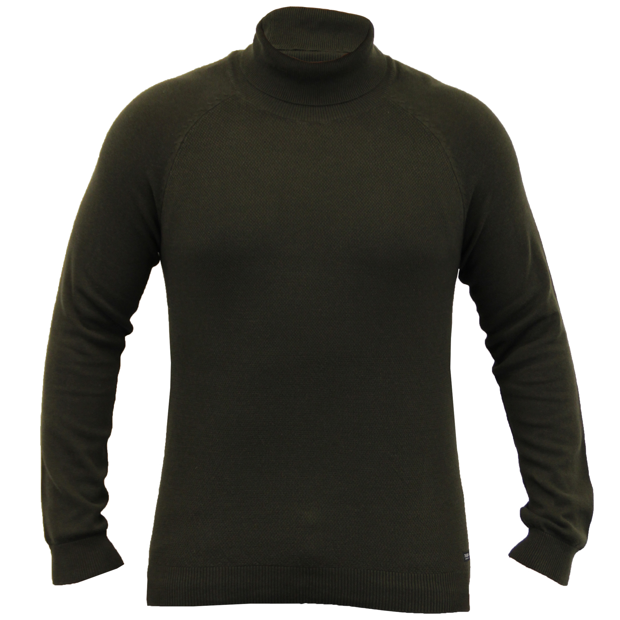 Mens-Jumper-Threadbare-Knitted-Sweater-Turtle-Polo-Neck-Pullover-Top-Winter-New thumbnail 2