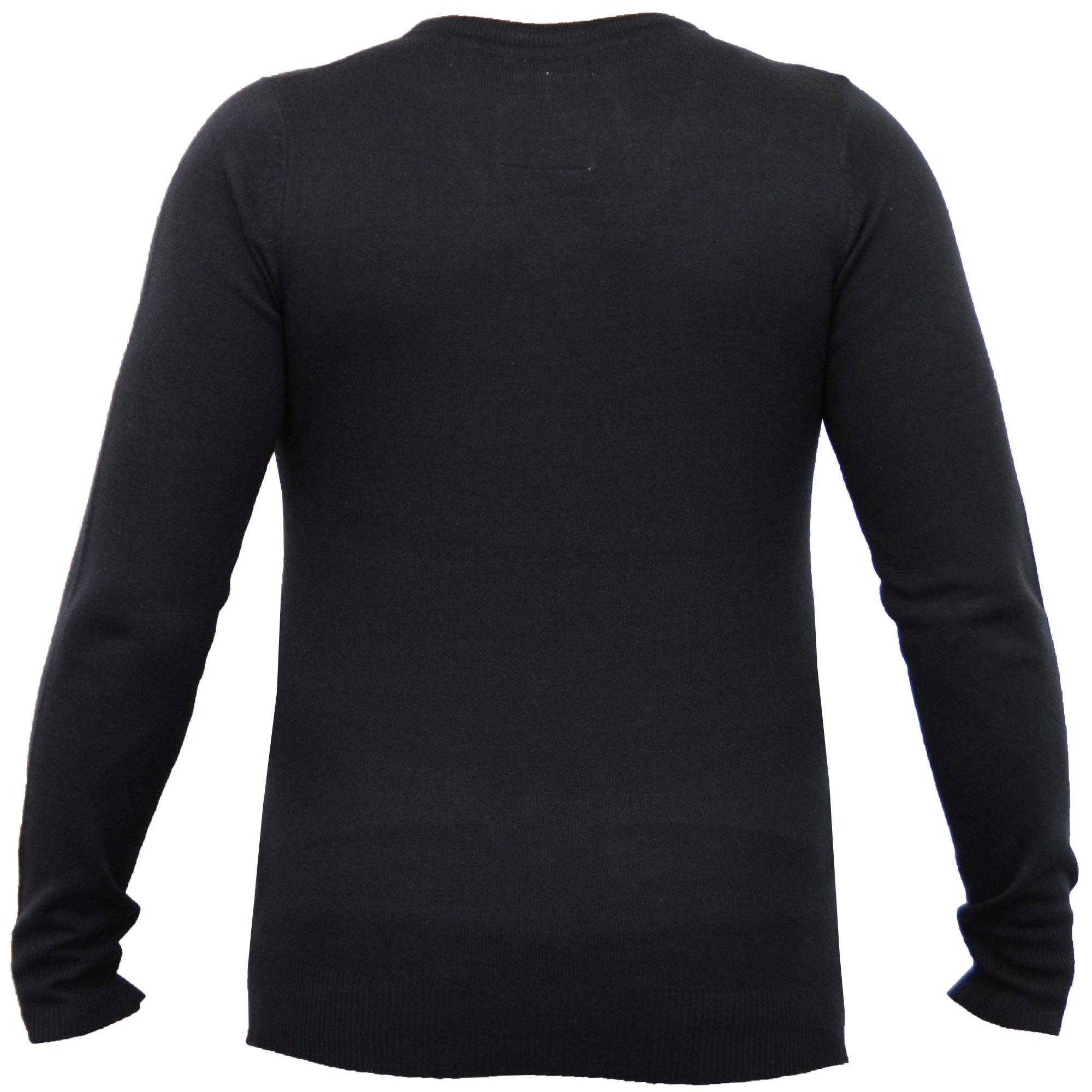 Mens-Jumper-Soul-Star-Knitted-Sweater-Pullover-Crew-V-Neck-Lightweight-Winter thumbnail 9