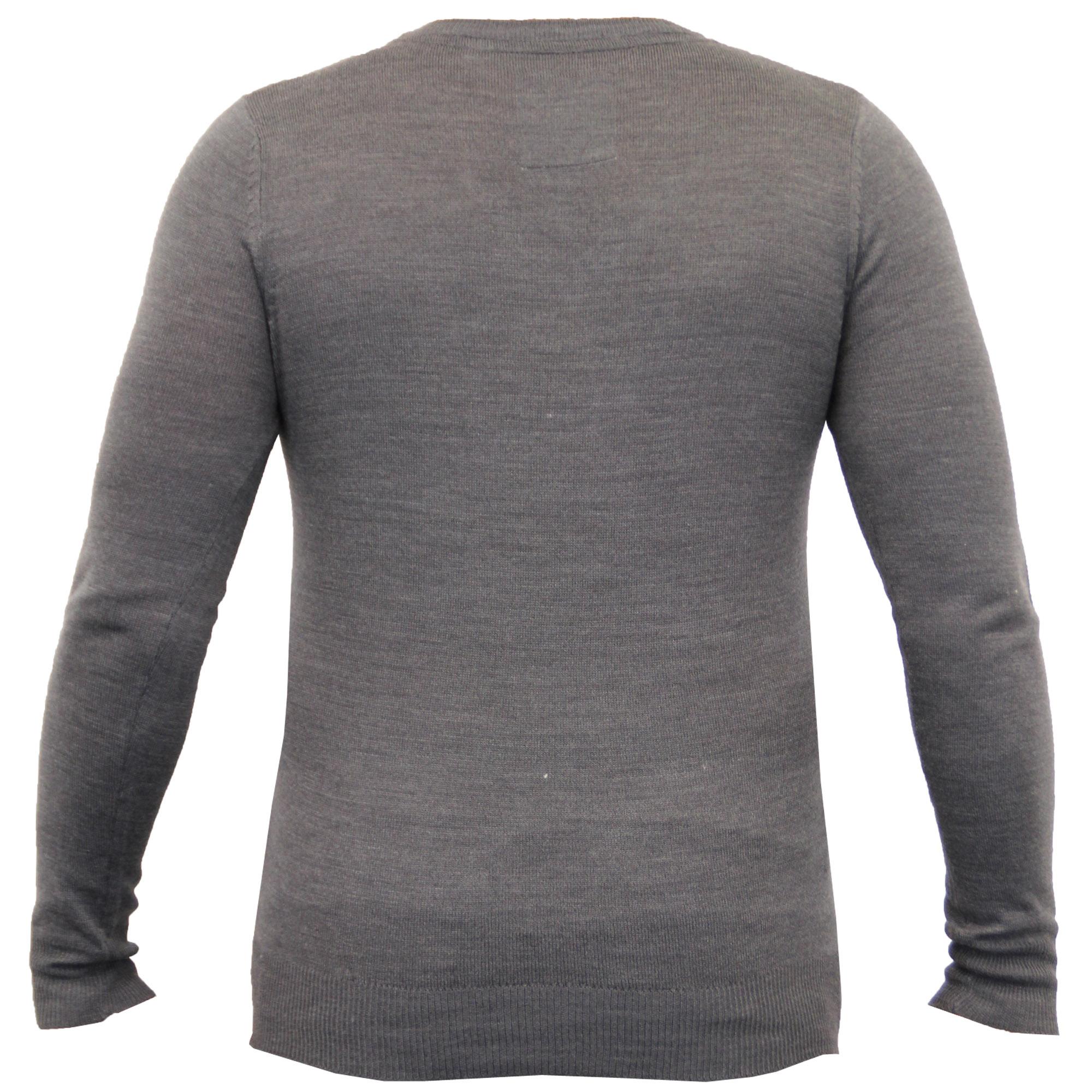 Mens-Jumper-Soul-Star-Knitted-Sweater-Pullover-Crew-V-Neck-Lightweight-Winter thumbnail 6