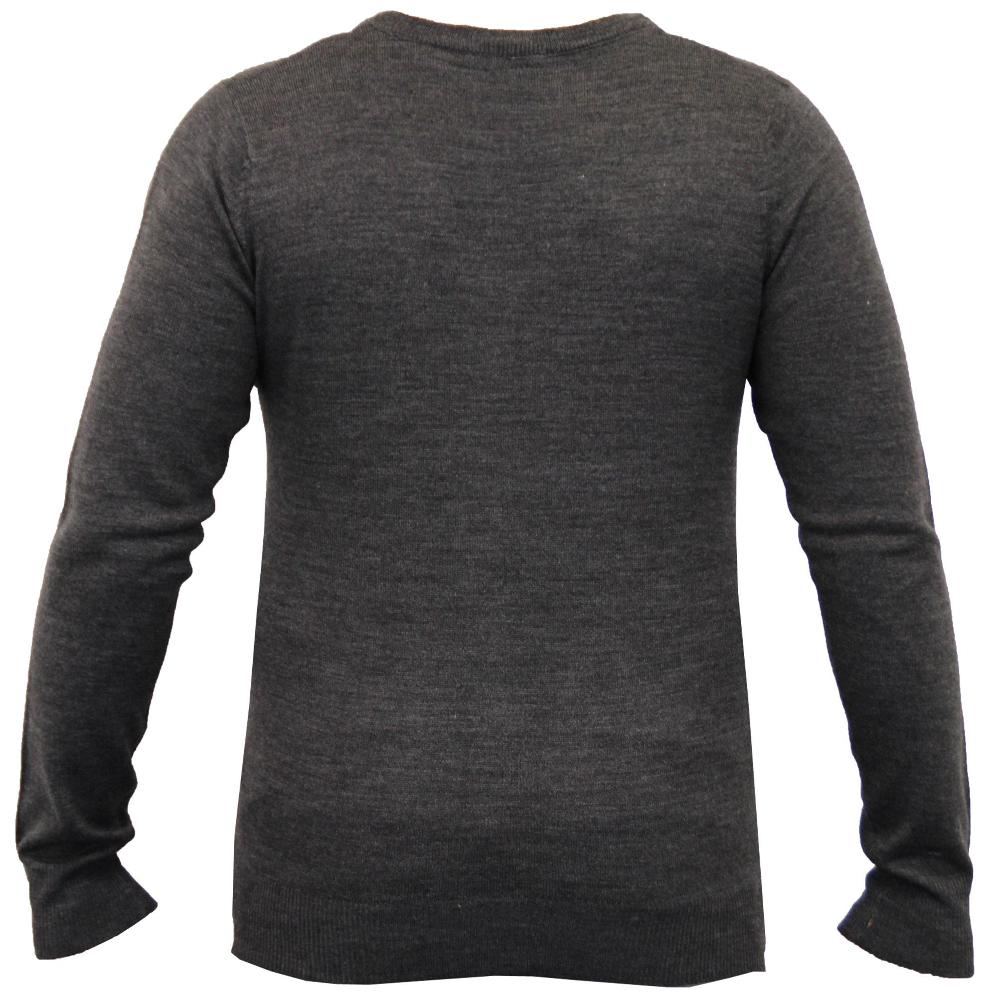 Mens-Jumper-Soul-Star-Knitted-Sweater-Pullover-Crew-V-Neck-Lightweight-Winter thumbnail 3