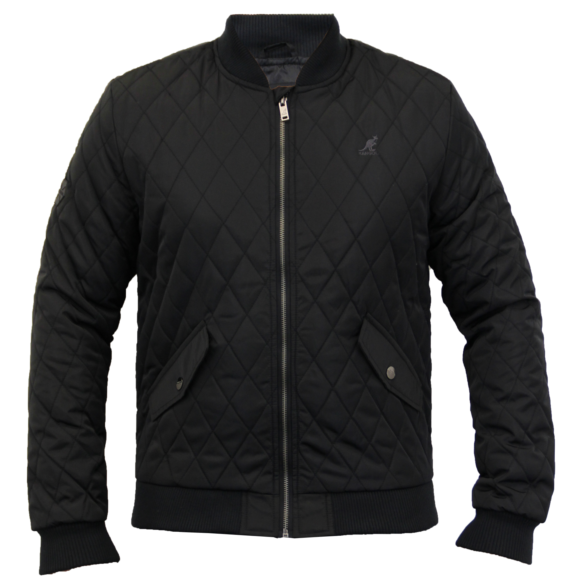 941cc1df9 Details about Mens Jacket Kangol MA1 Harrington Coat Padded Diamond Quilted  Bomber Winter New