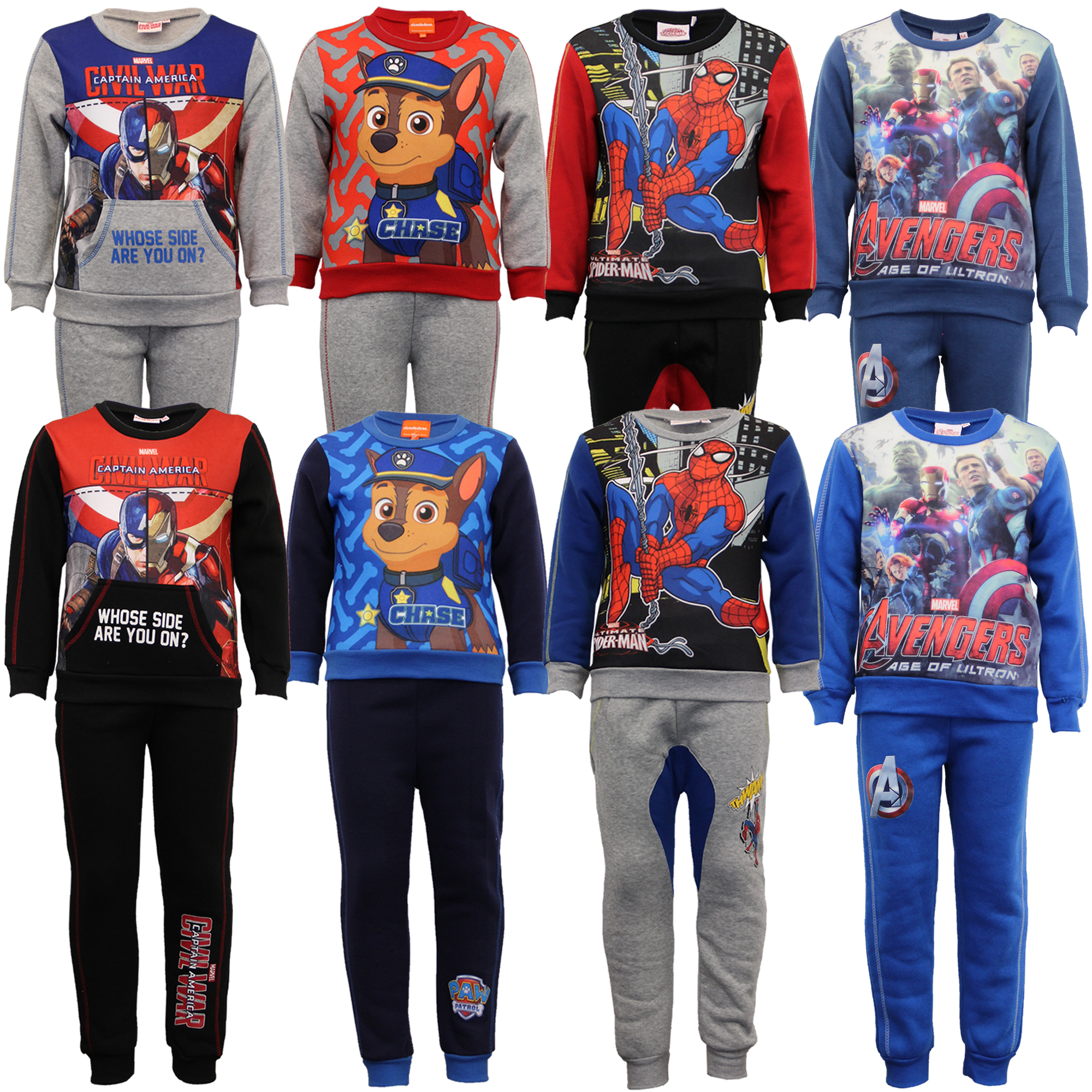 Marvel Official Spiderman Character Lightweight Fleece Joggers Trousers Sweatpants for Boys 2-8 Years