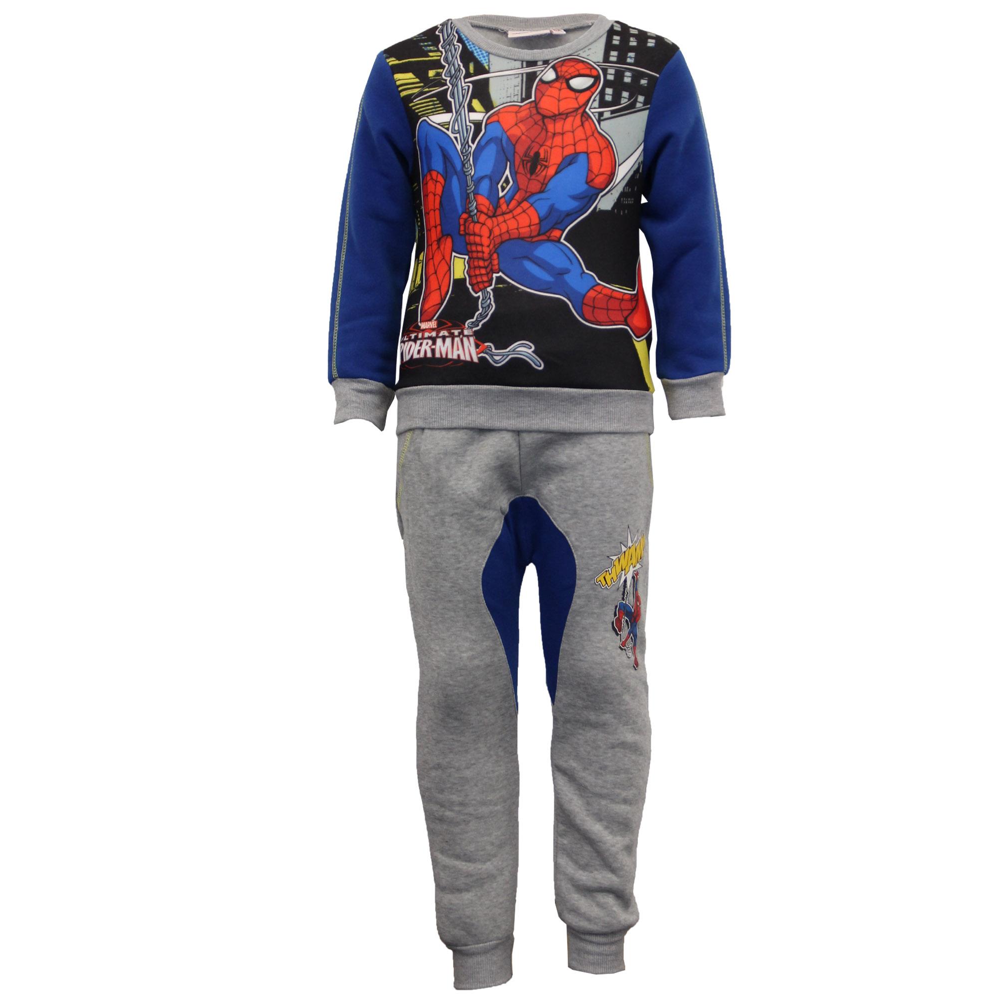 Sweat-shirt garçon bas set marvel paw patrol avengers spiderman polaire hiver