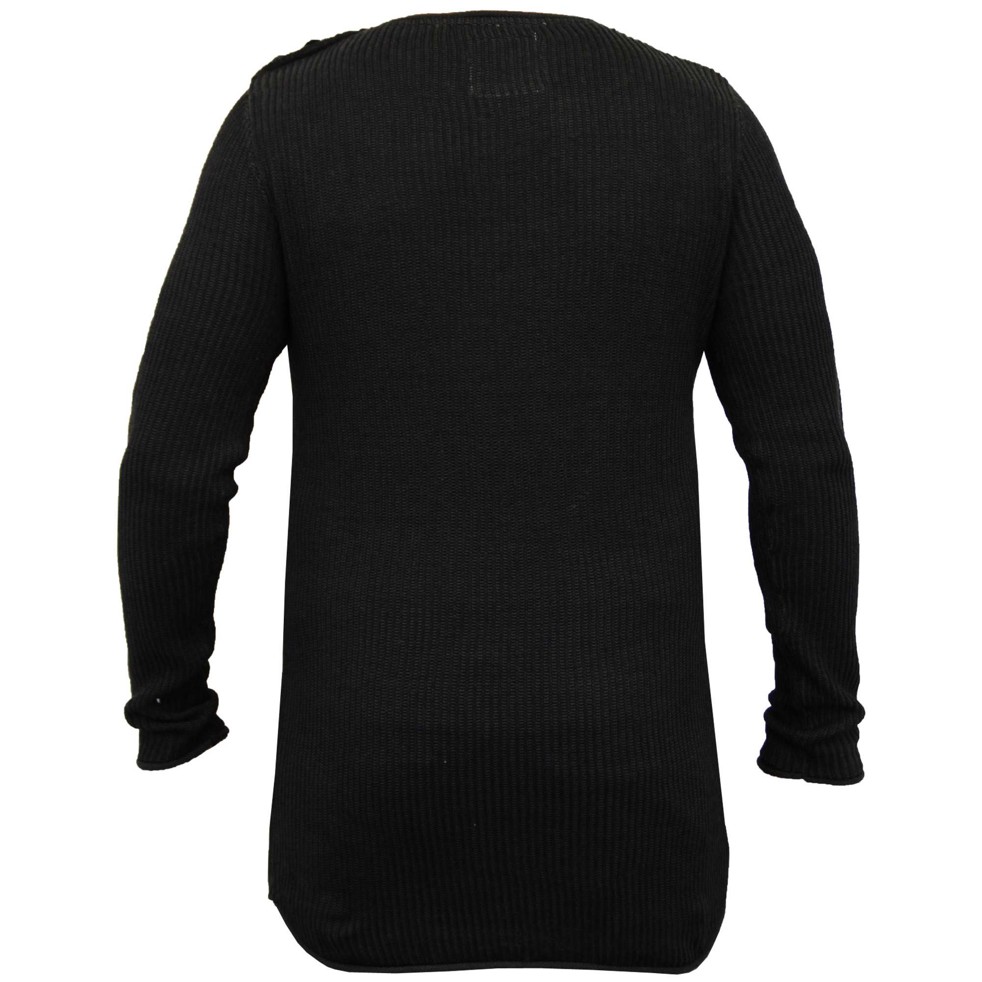 Mens-Long-Line-Jumper-Soul-Star-Sweater-High-Low-Hem-Top-Knitted-Pullover-Winter thumbnail 9
